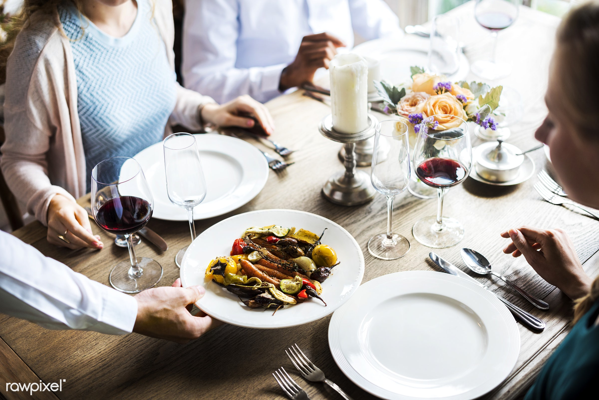 expression, person, cuisine, people, dished, together, caucasian, friends, woman, gather, candles, drink, friendship, lunch...