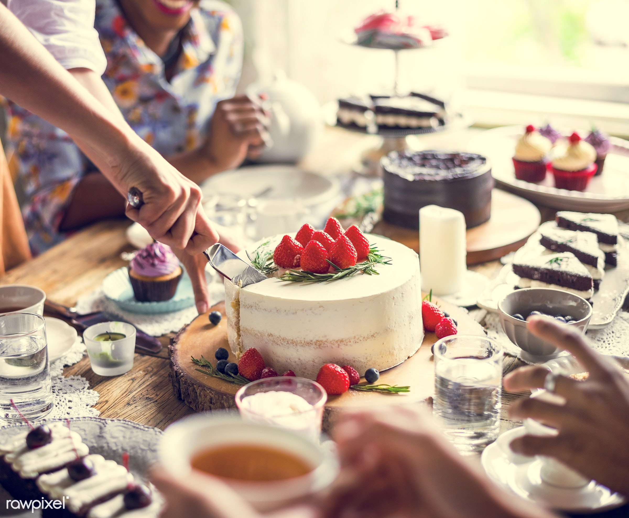 dish, person, recipe, tea, party, people, together, tea party, friends, bakery, frosting, gather, event, woman, gathering,...