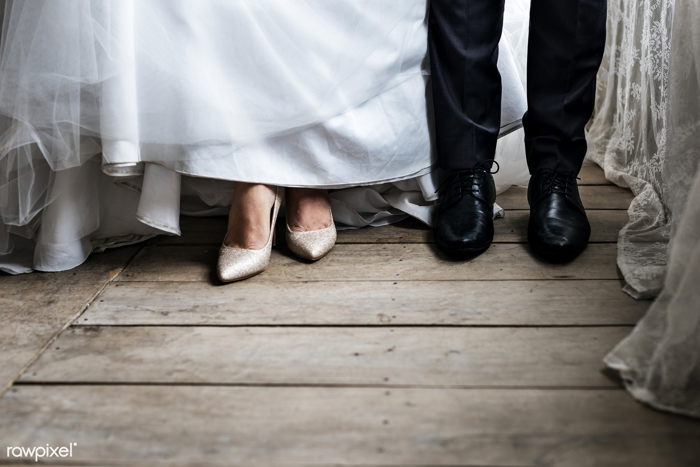 person, hug, smitten, people, together, caucasian, glamour, love, woman, gown, heels, cheerful, marry, gentleman, lace,...