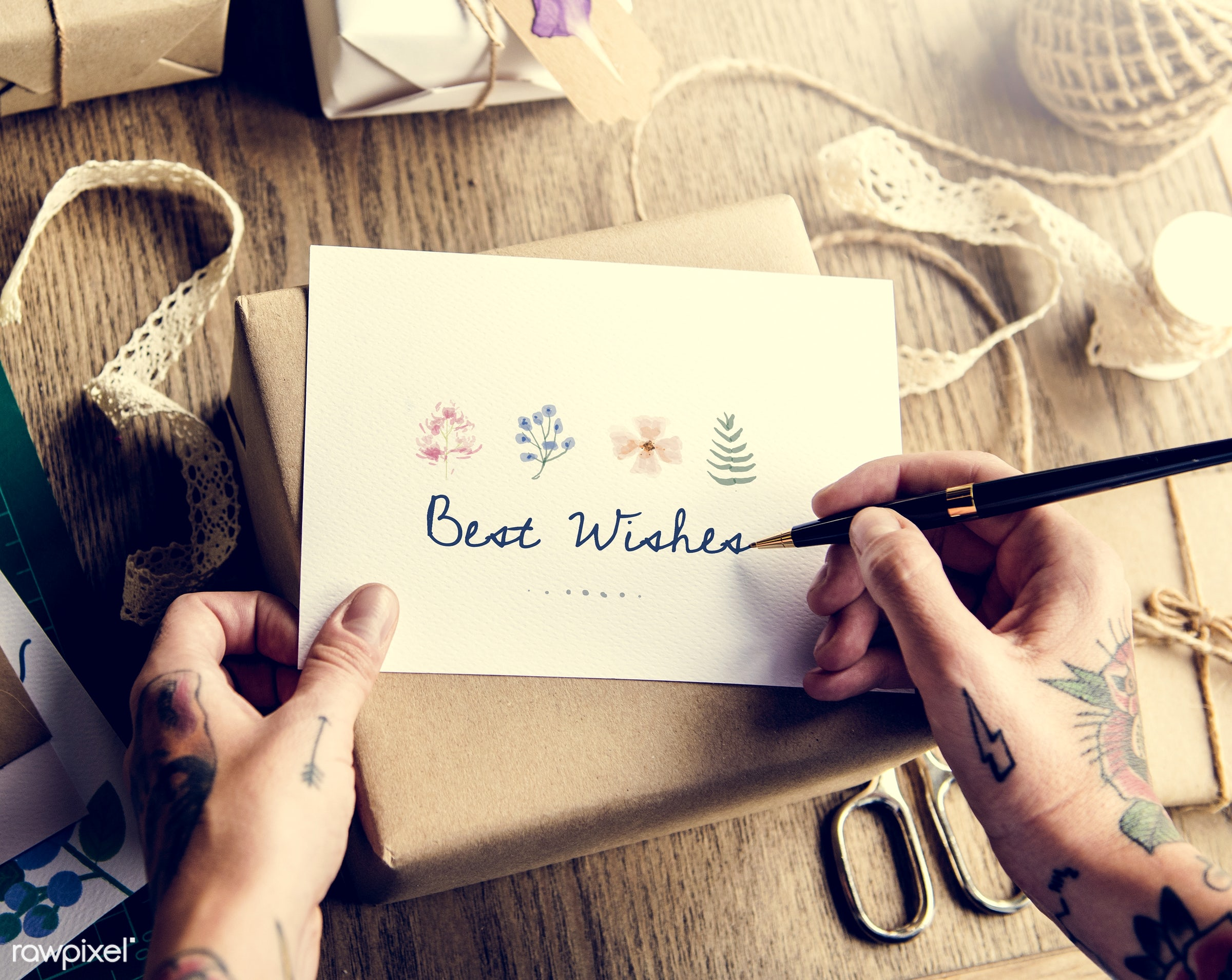 detail, gift, decorative, wish, handicraft, writing, show, hand, dried, hands, attractive, written, write, wooden background...