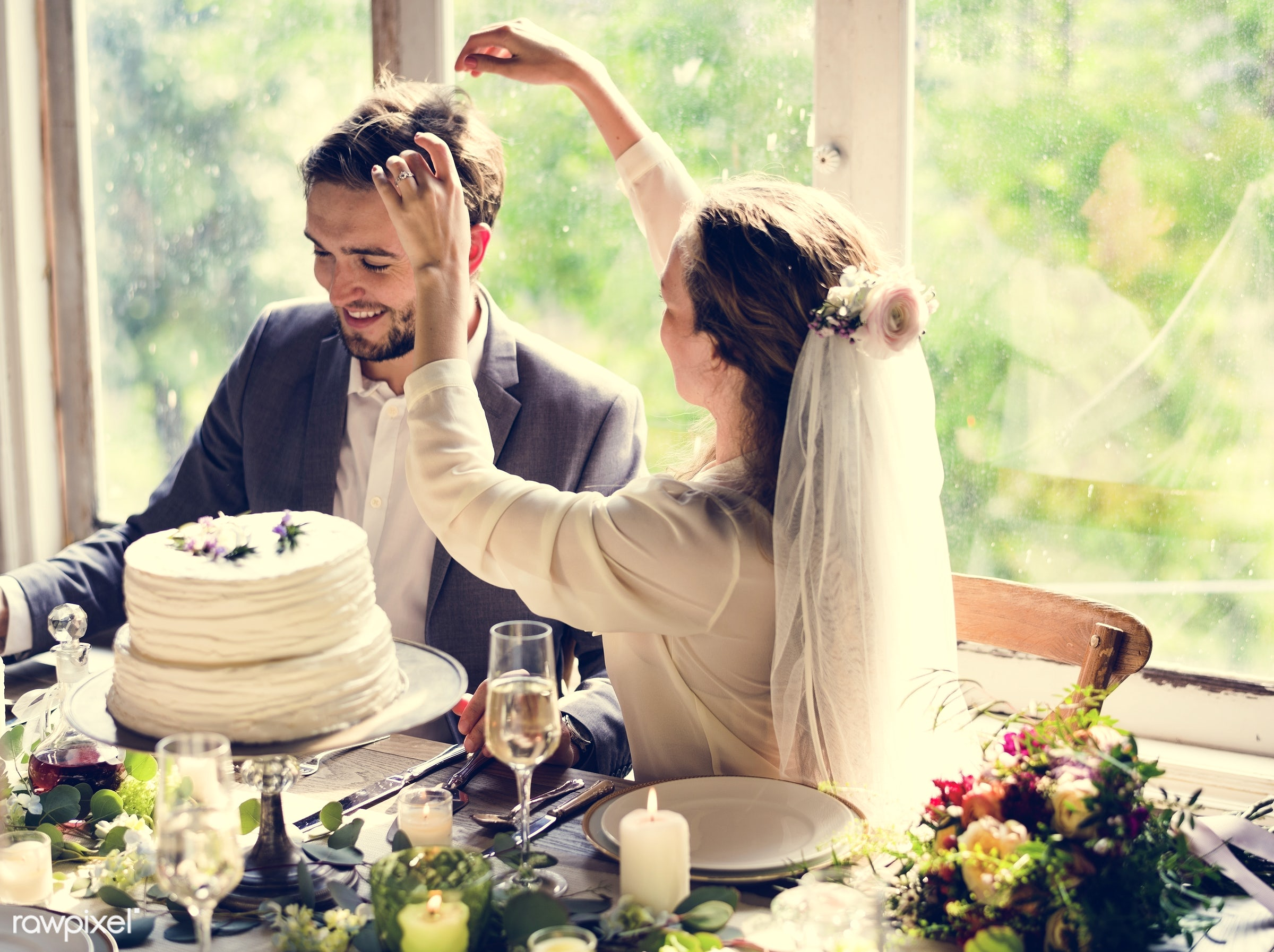 expression, person, smitten, people, together, love, married, woman, family, event, cheerful, cake, happiness, touch, set,...