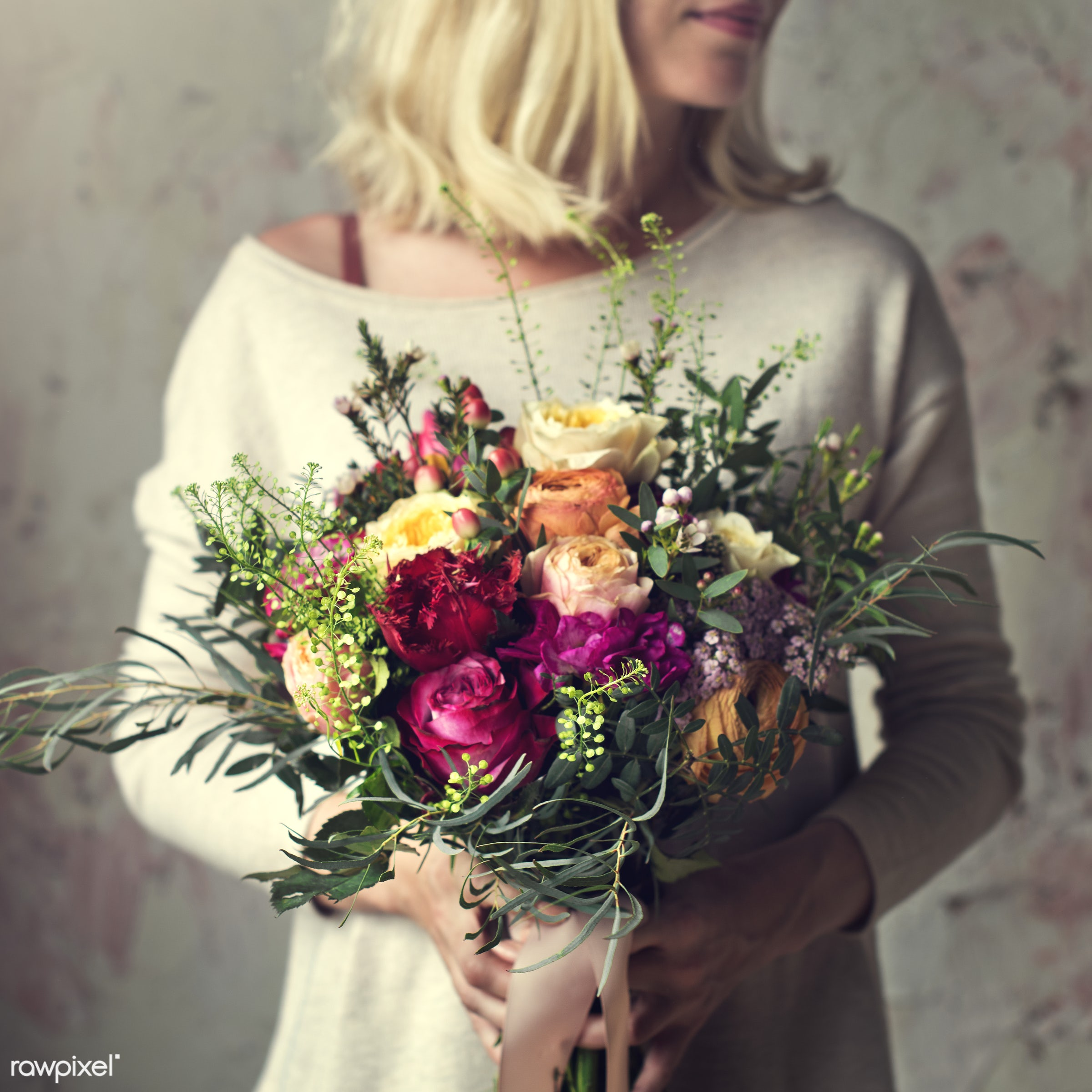 bouquet, person, detail, decorative, colorful, holding, diverse, events, plants, show, spring, people, blossom, love, decor...