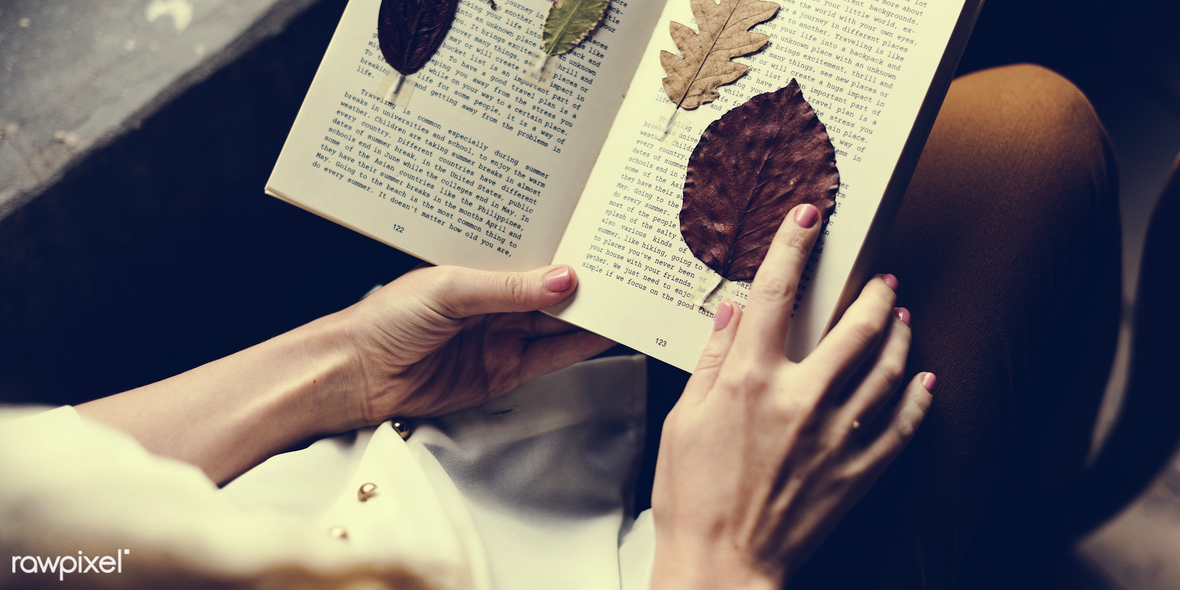 detail, person, relax, handicraft, leaf, leaves, people, decor, break, dried, nature, woman, flowers, work, refreshment,...
