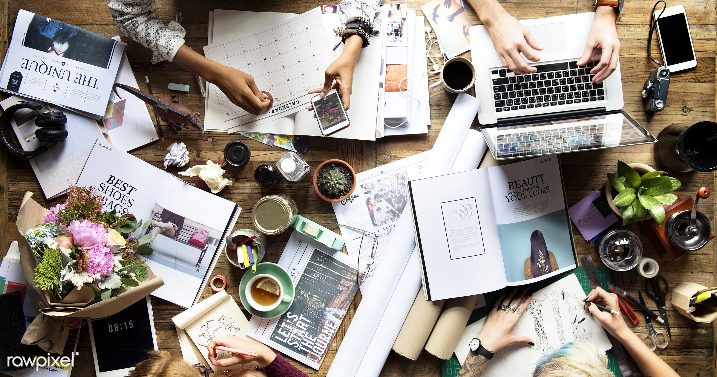 aerial view, attach, brainstorming, busy, coffee, communication, connection, corporate, design, designer, desk, document,...