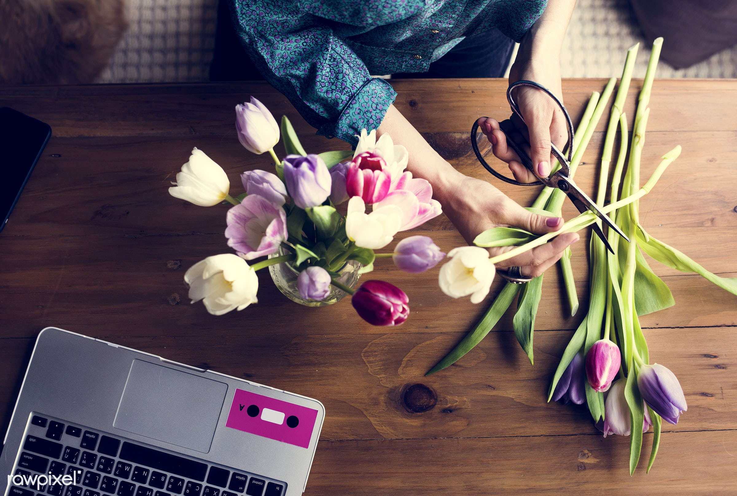 aerial view, attach, attached, beautiful, beauty, blossom, creative, creativity, decoration, design, desk, floral, florist,...