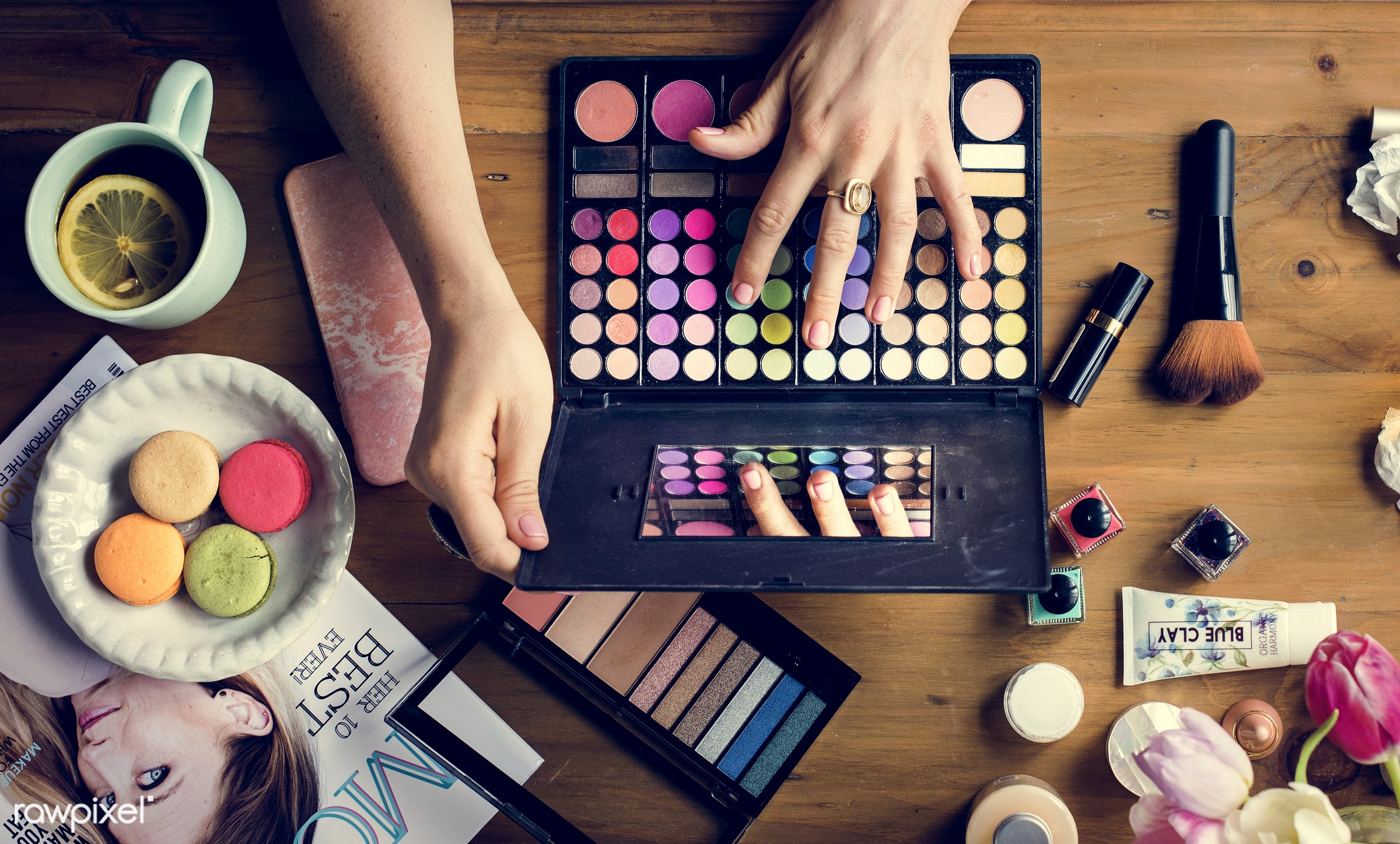 cosmetic, accessories, adult, apply, attach, attached, beautiful, beauty, blush, brushes, care, collection, colors,...