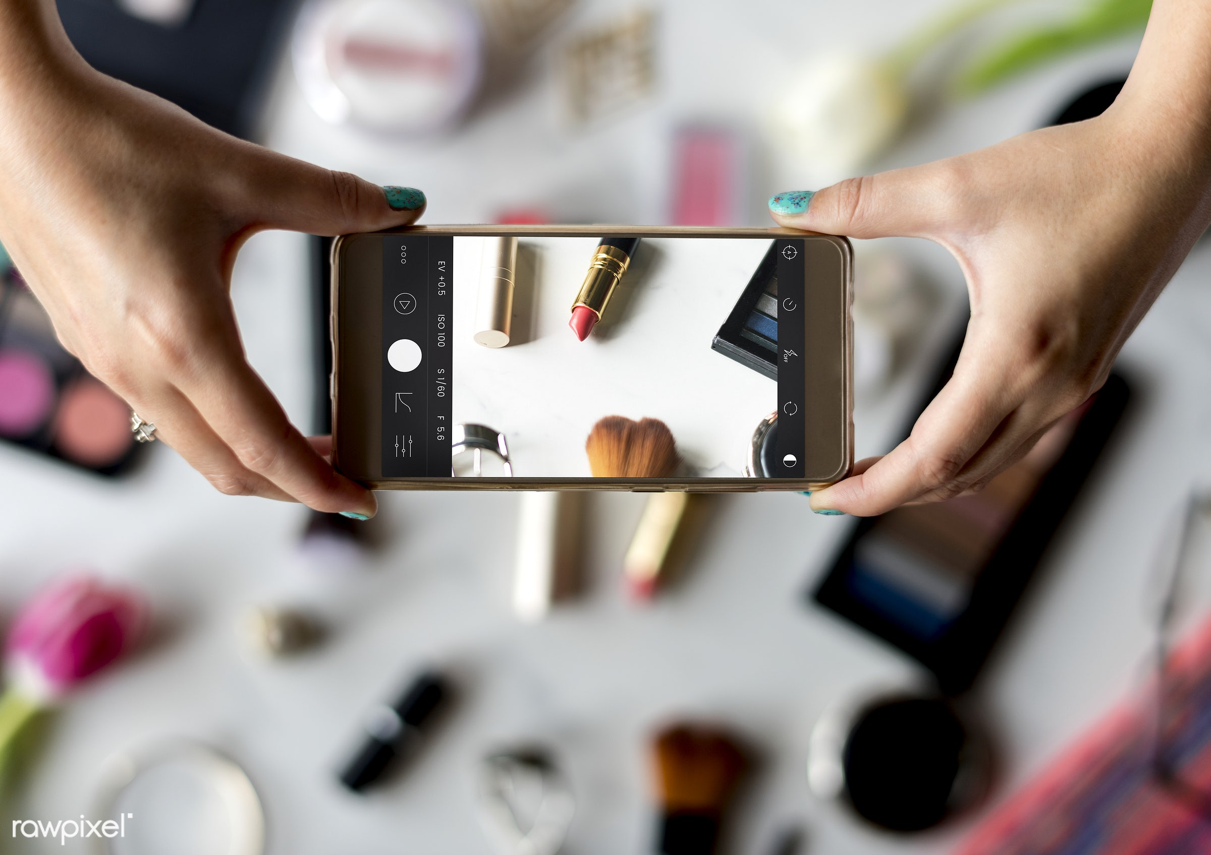 makeup, cosmetic, product, accessories, adult, apply, attach, attached, beautiful, beauty, capture, care, cellphone,...