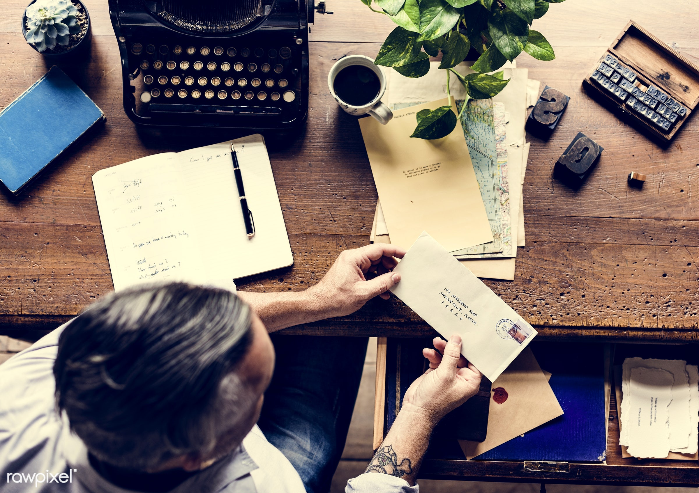 adult, alphabets, ancient, author, coffee, data, document, editorial, envelope, hands, information, keyboard, letter,...