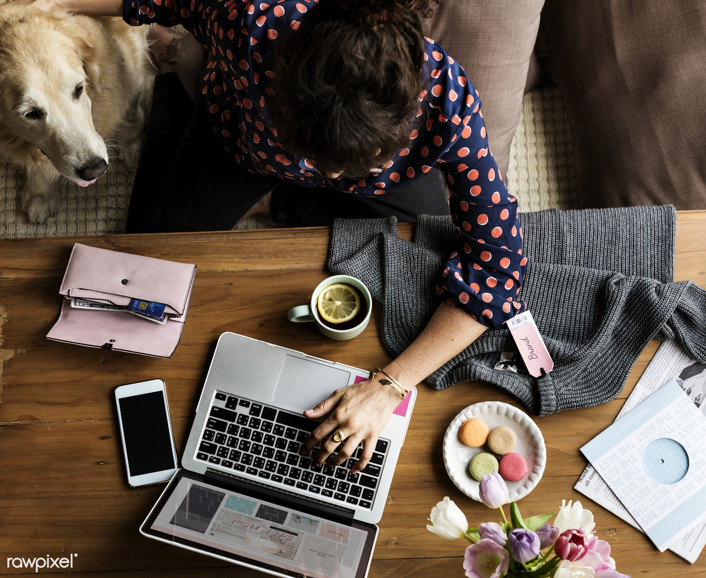 desktop, animal, phone, shopping, adult, attach, attached, cellphone, chill, device, digital, dog, flowers, internet, laptop...