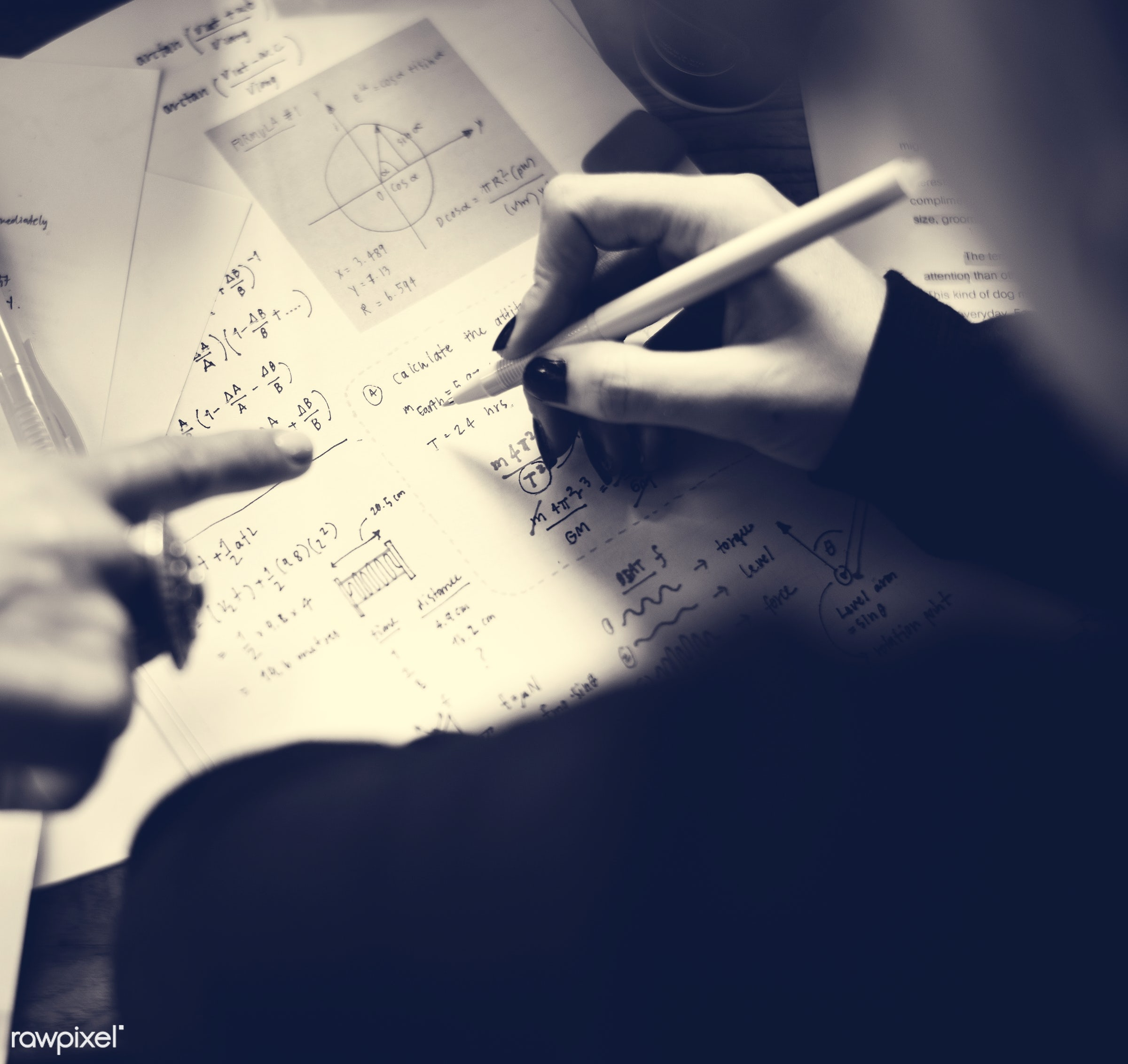 lecture, person, calculate, college, study, torque, highlight, people, woman, action, calculator, work, learn, class,...