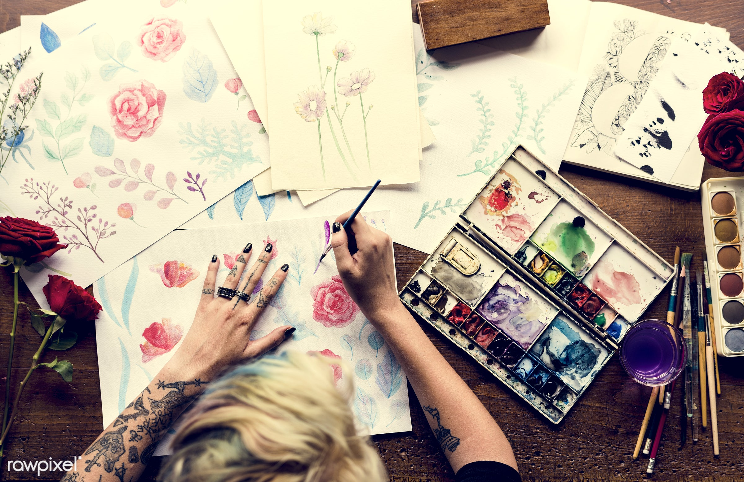 adult, art, artistic, arts, color, colors, craft, create, creativity, decoration, design, draw, equipment, flowers,...
