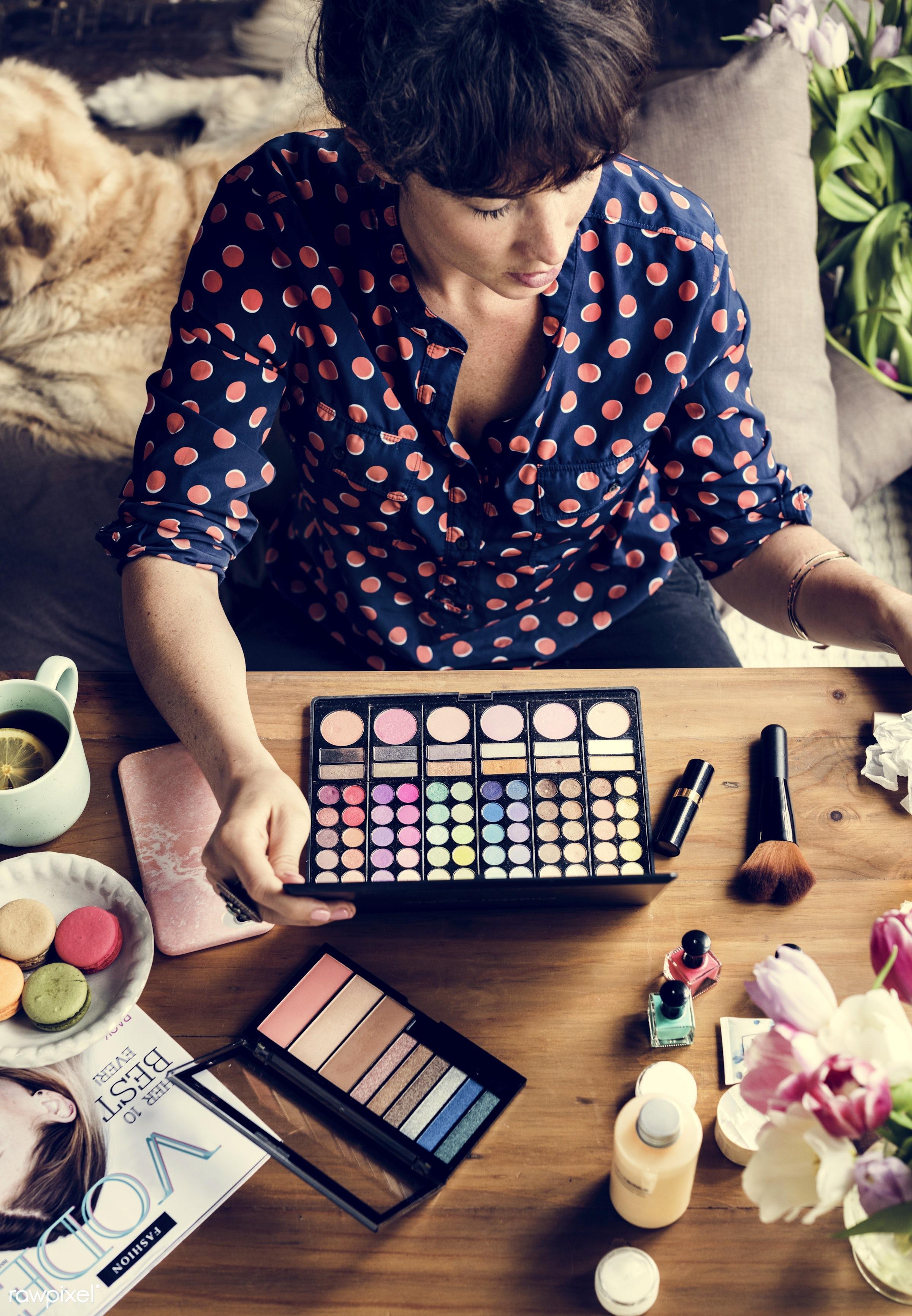 face, pastel, nail polish, glasses, makeup artist, colorful, makeup, set, treatment, powder, palette, blusher, beauty,...