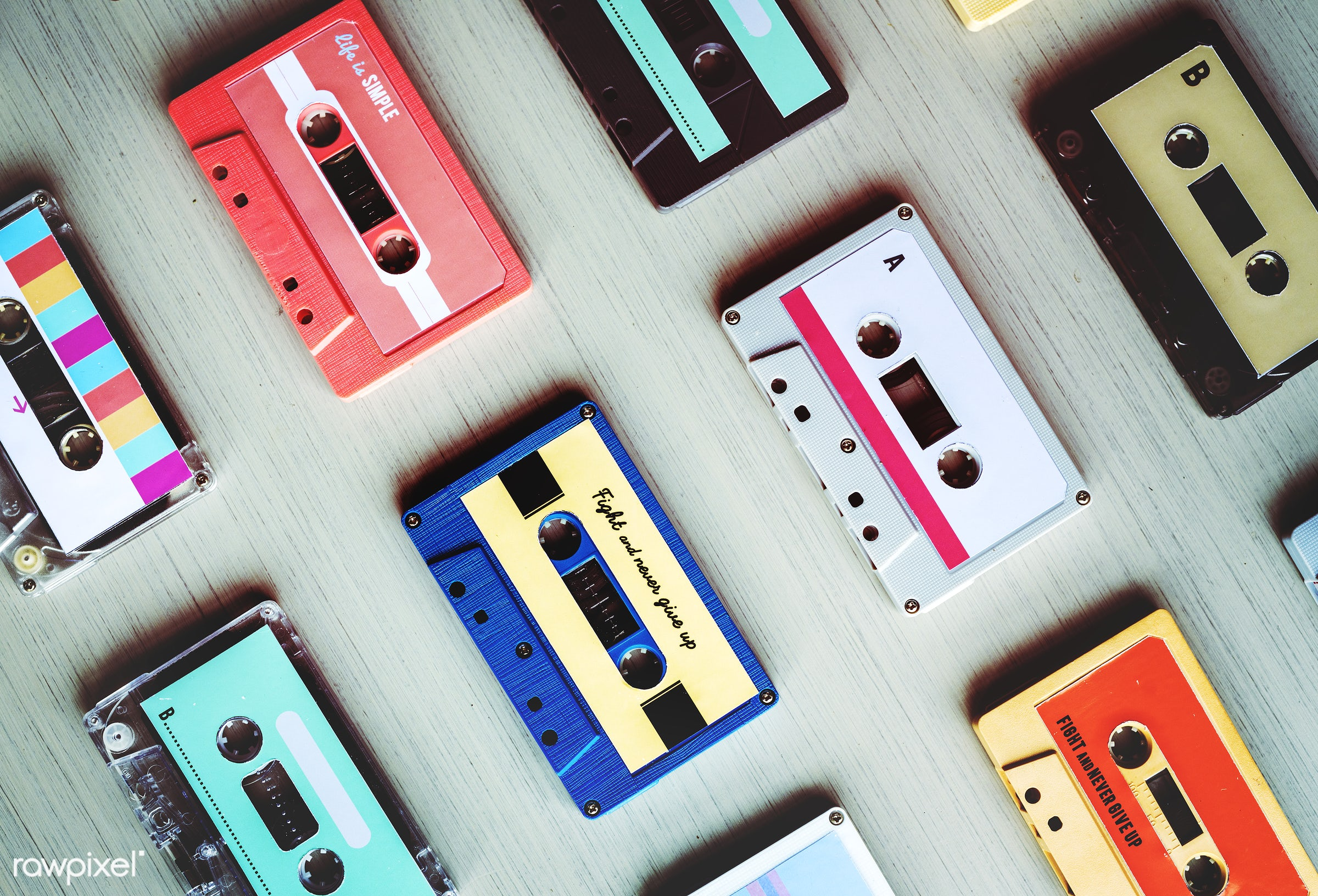 rehearsal, 80s, song, old, music taste, relax, set, retro, feels, equipment, tape, object, collection, recreation, party,...