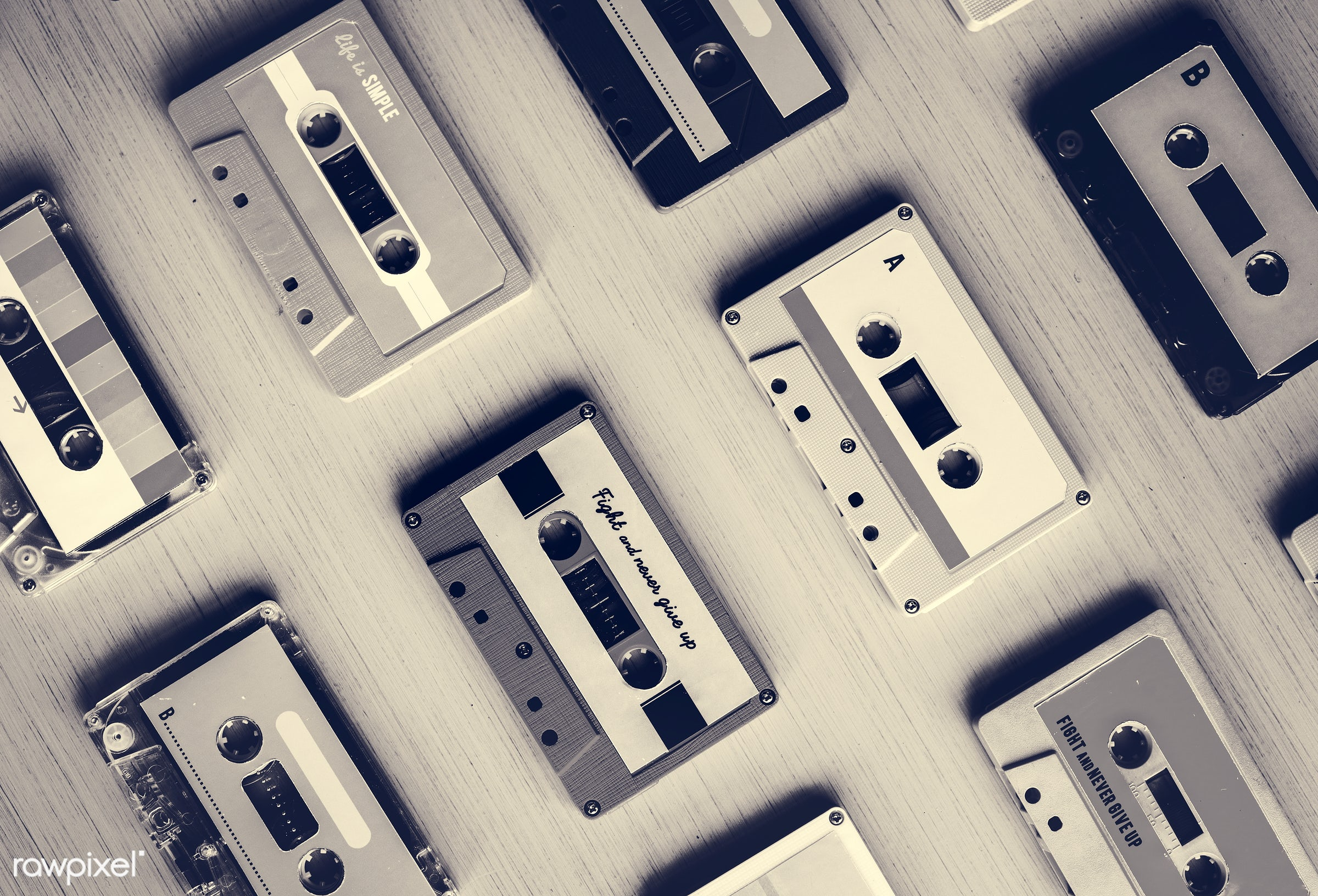 rehearsal, 80s, song, old, music taste, relax, set, retro, tape, feels, equipment, object, collection, recreation, party,...