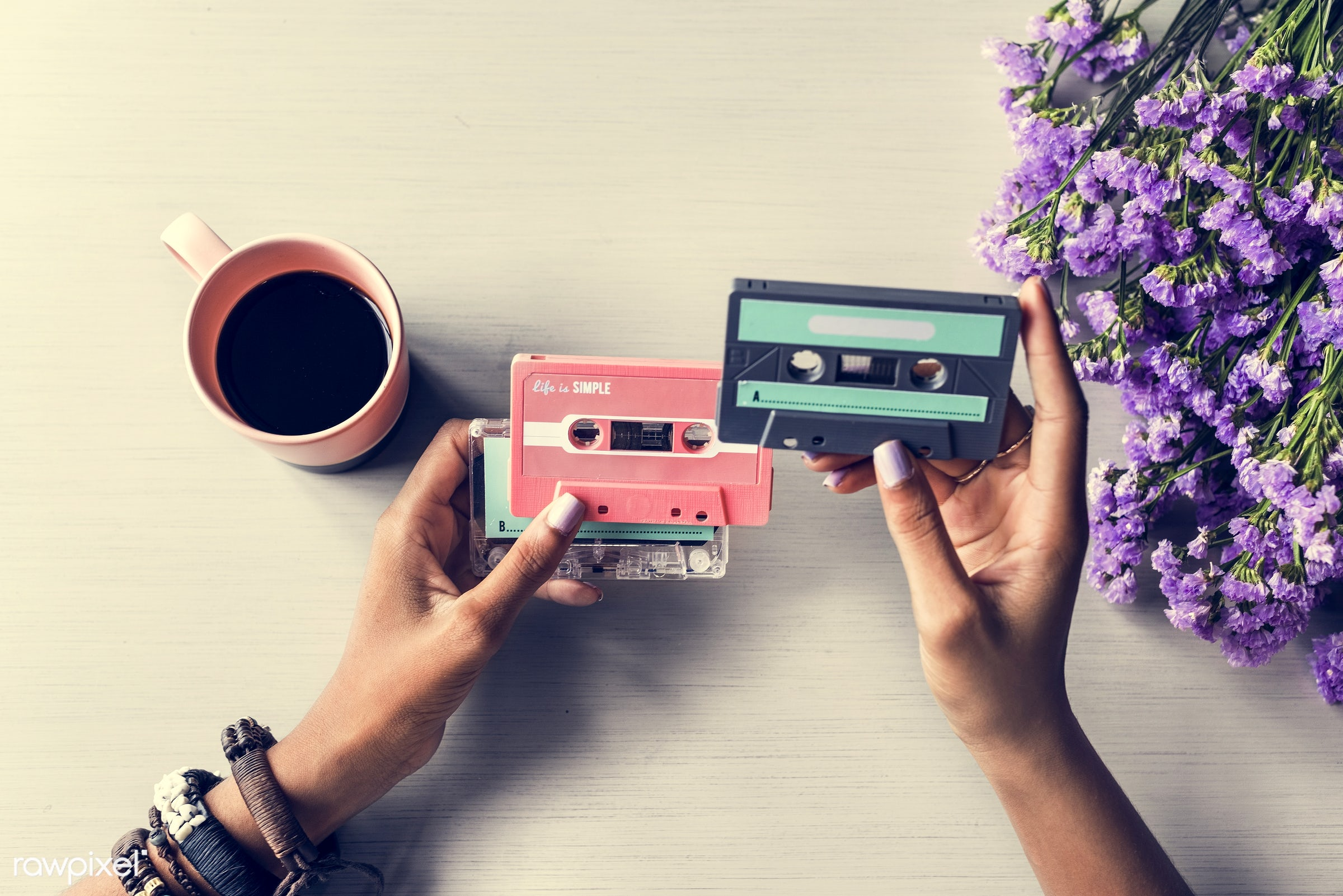 80s, active, activity, audio, cassette, coffee, collection, cup, enjoyment, entertainment, equipment, feelings, feels,...