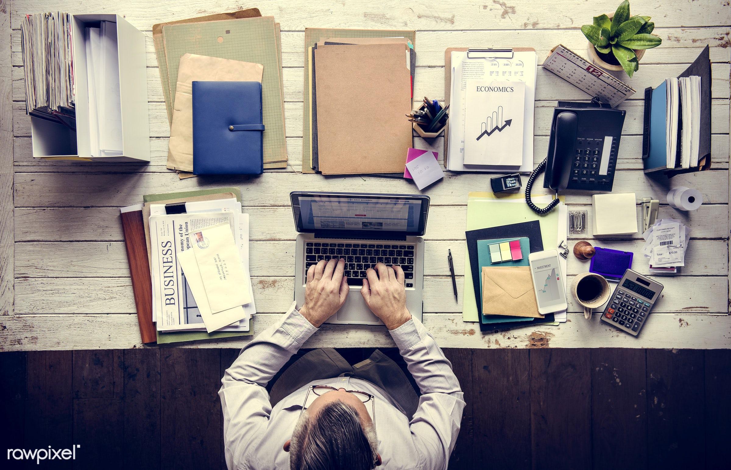 action, adult, business, businessman, busy, casual, folders, formal, ideas, laptop, man, mature, men, newspaper, notebook,...
