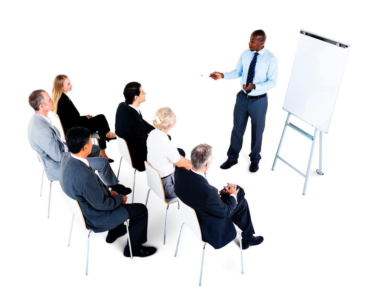 People in a business presentation