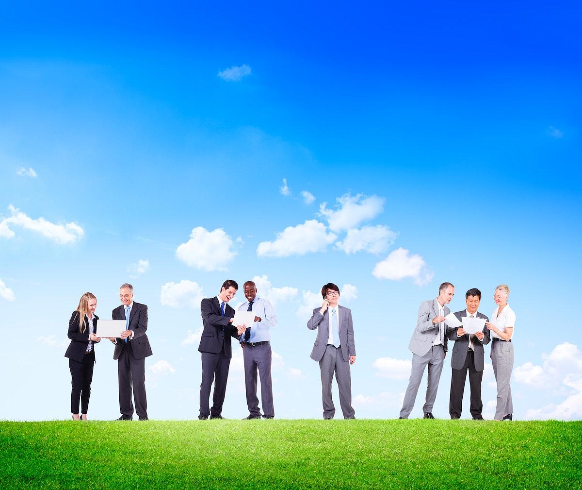 Collaboration Team Teamwork Partnership Occupation Professional Leadership Concept