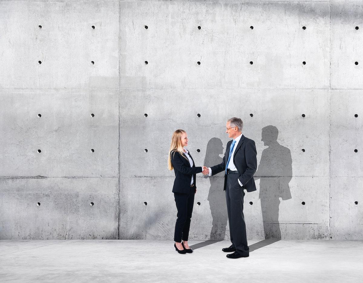 Business handshake and agreement