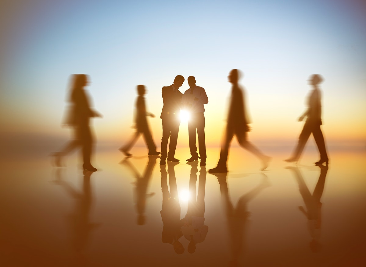 Business People Working Walking Outdoor Team Concept