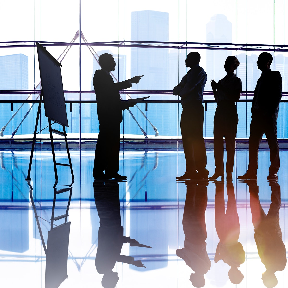 Business People Meeting Corporate Cityscape Skyline Concept