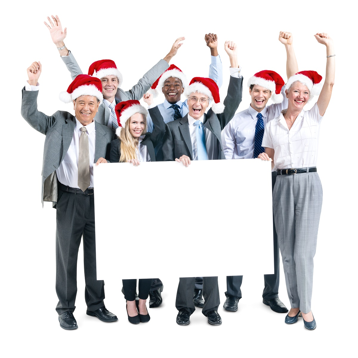 Business People Celebration Banner Copy Space Christmas Concept