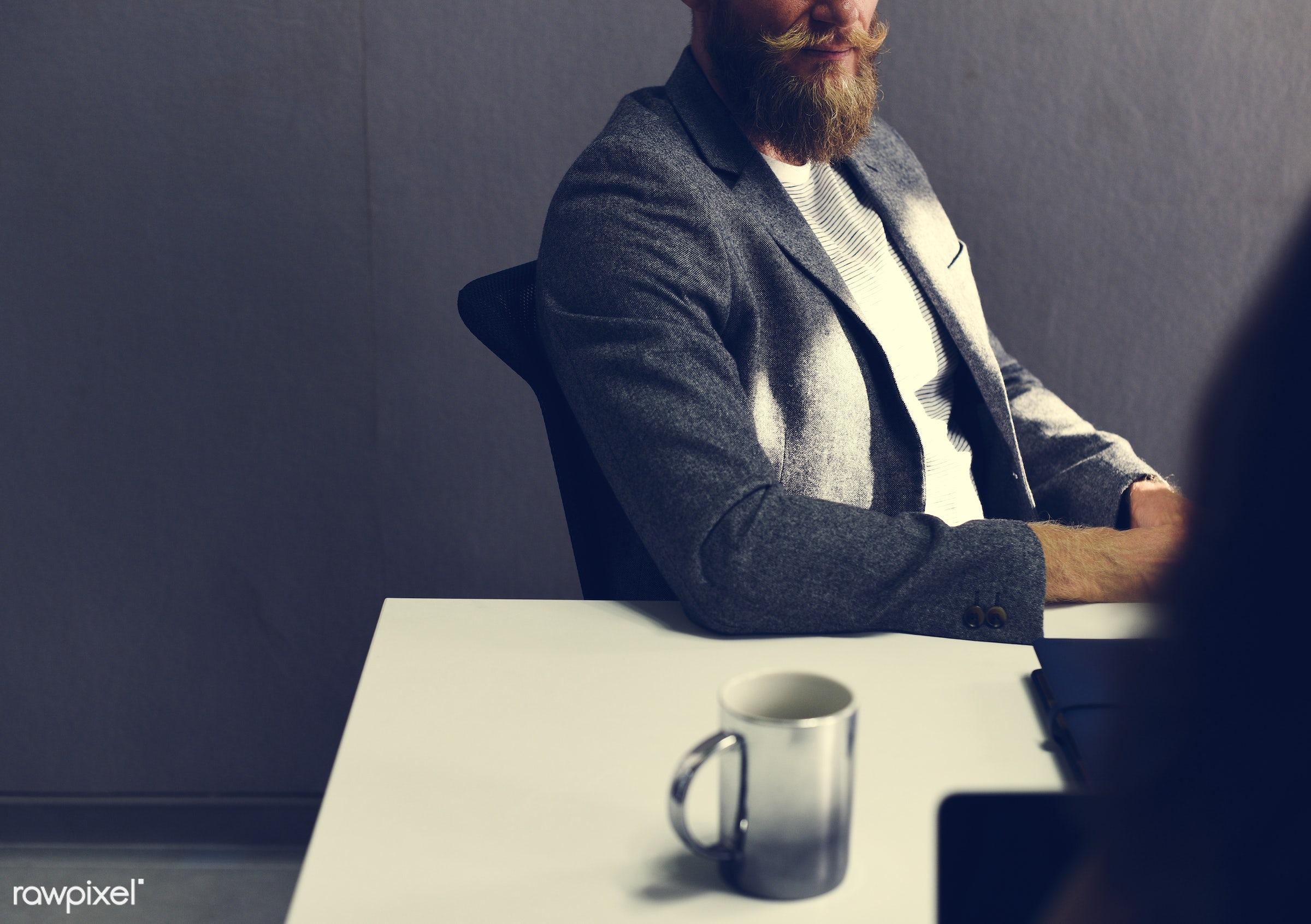 Startup Business Team Brainstorming on  Meeting Workshop - bearded, brainstorm, business, businessman, businesspeople,...