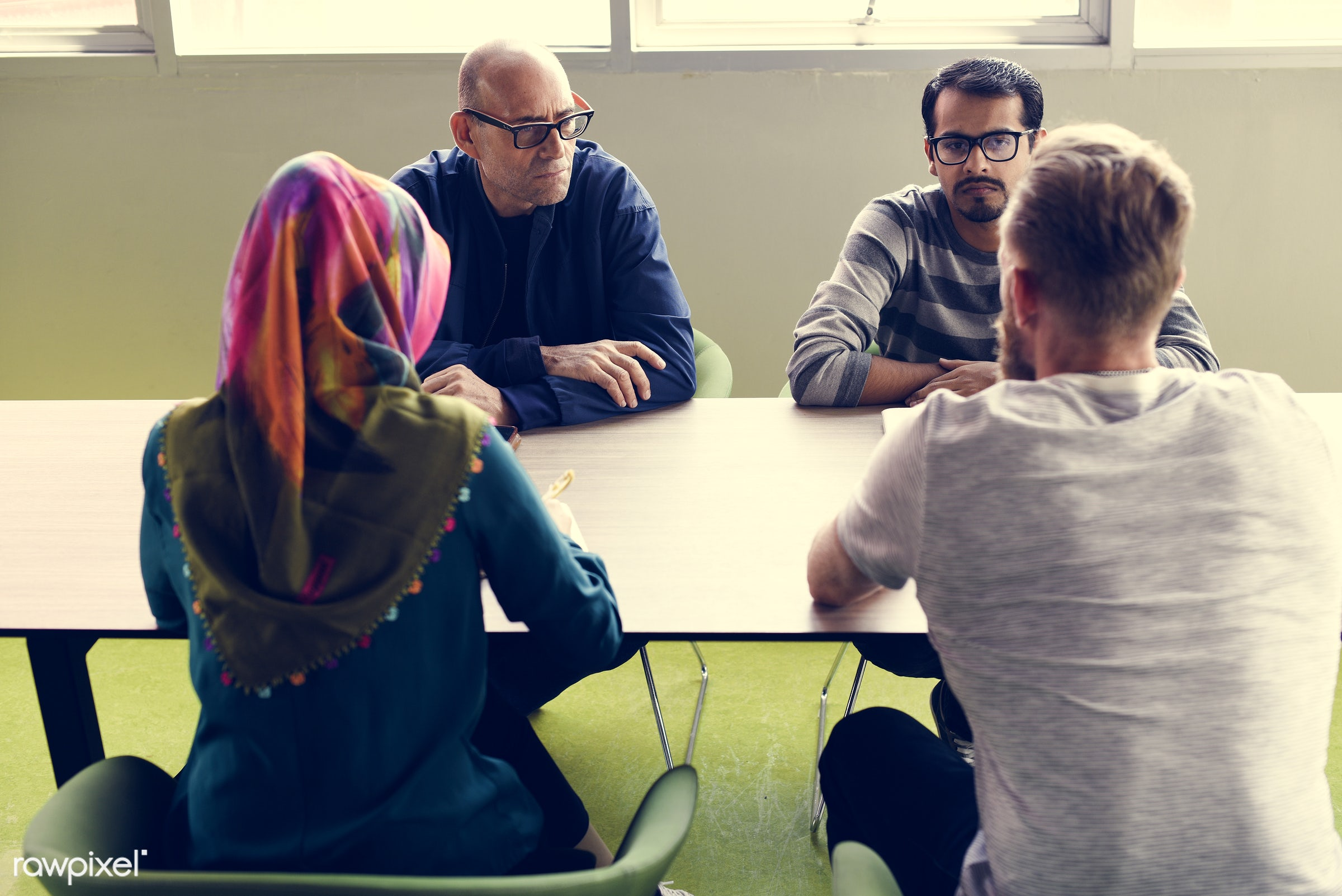 islamic, attend, brainstorm, business, casual, caucasian, class, colleagues, company, course, coworking, creative,...