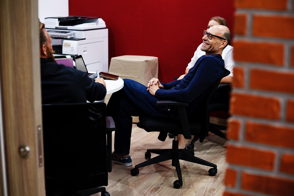 Business people having a meeting together