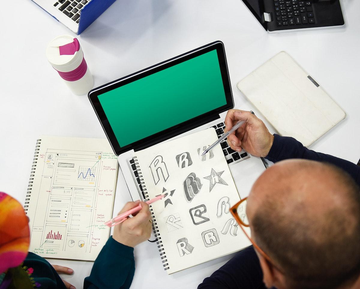People using computer laptop
