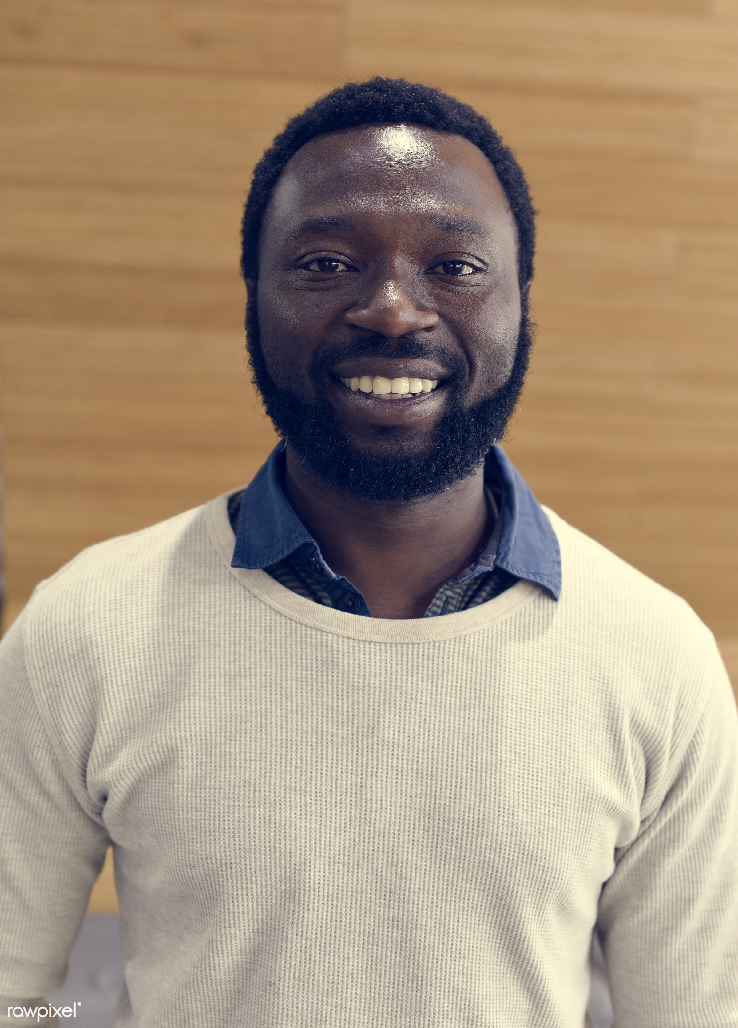 african, african descent, alone, attractive, background, beard, casual, cheerful, confident, emotion, enjoyment, expression...