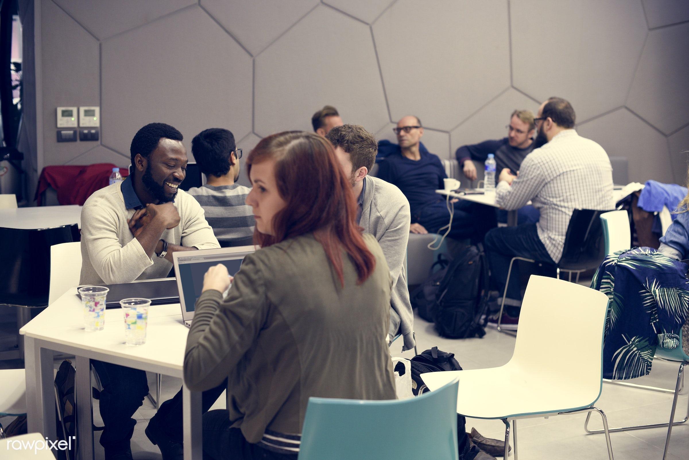 brainstorm, casual, caucasian, colleagues, communication, creative, device, digital, diverse, diversity, friends, ideas, job...