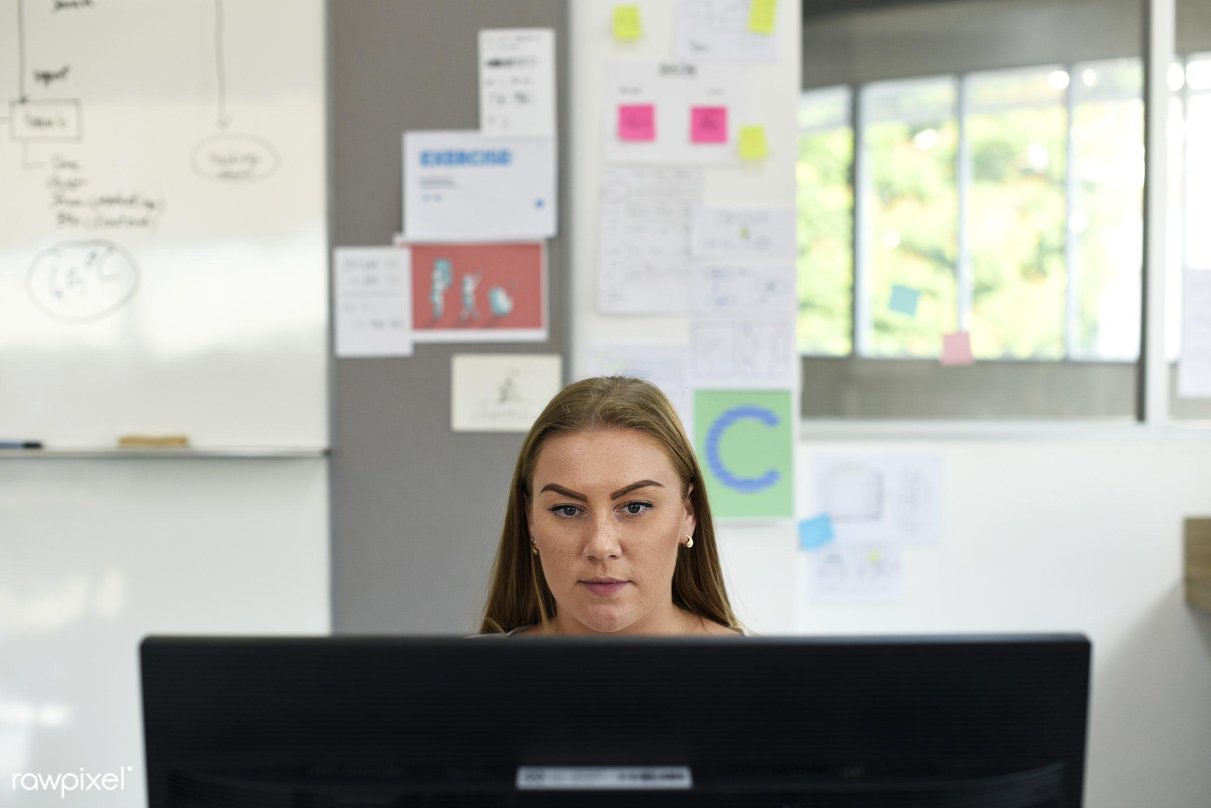 business, career, caucasian, communication, company, computer, connection, desk, internet, job, occupation, office, pc,...