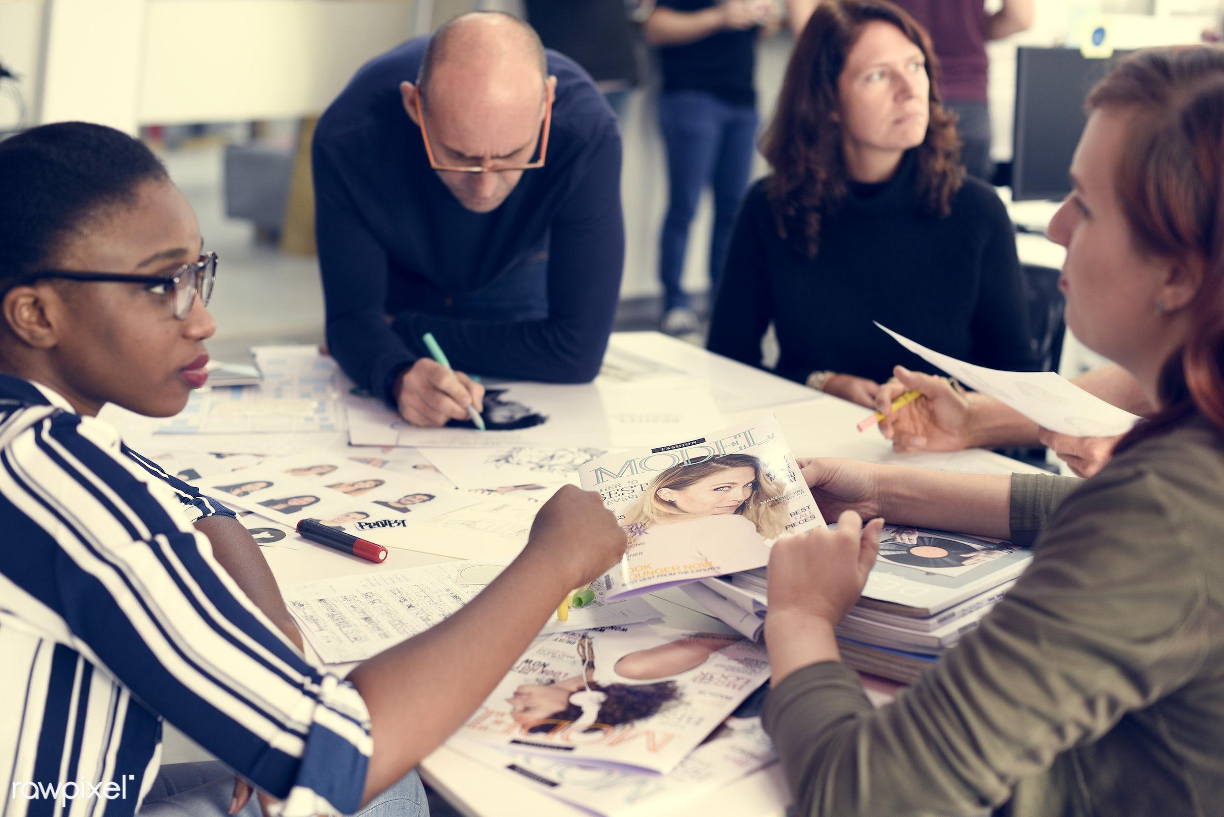 brainstorm, business, businesspeople, casual, caucasian, colleagues, company, coworking, creative, development, diverse,...
