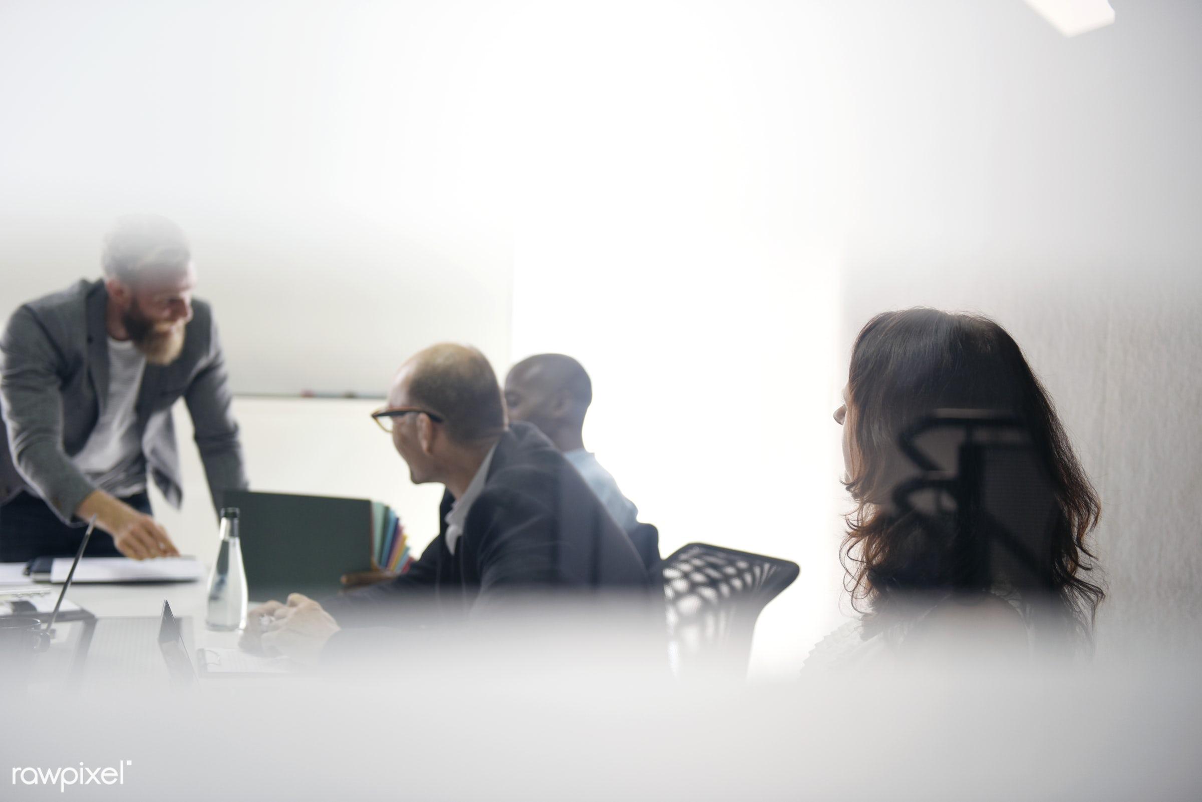 adult, agreement, board meeting, brainstorming, business, businessmen, businesswomen, casual, caucasian, cheerful,...