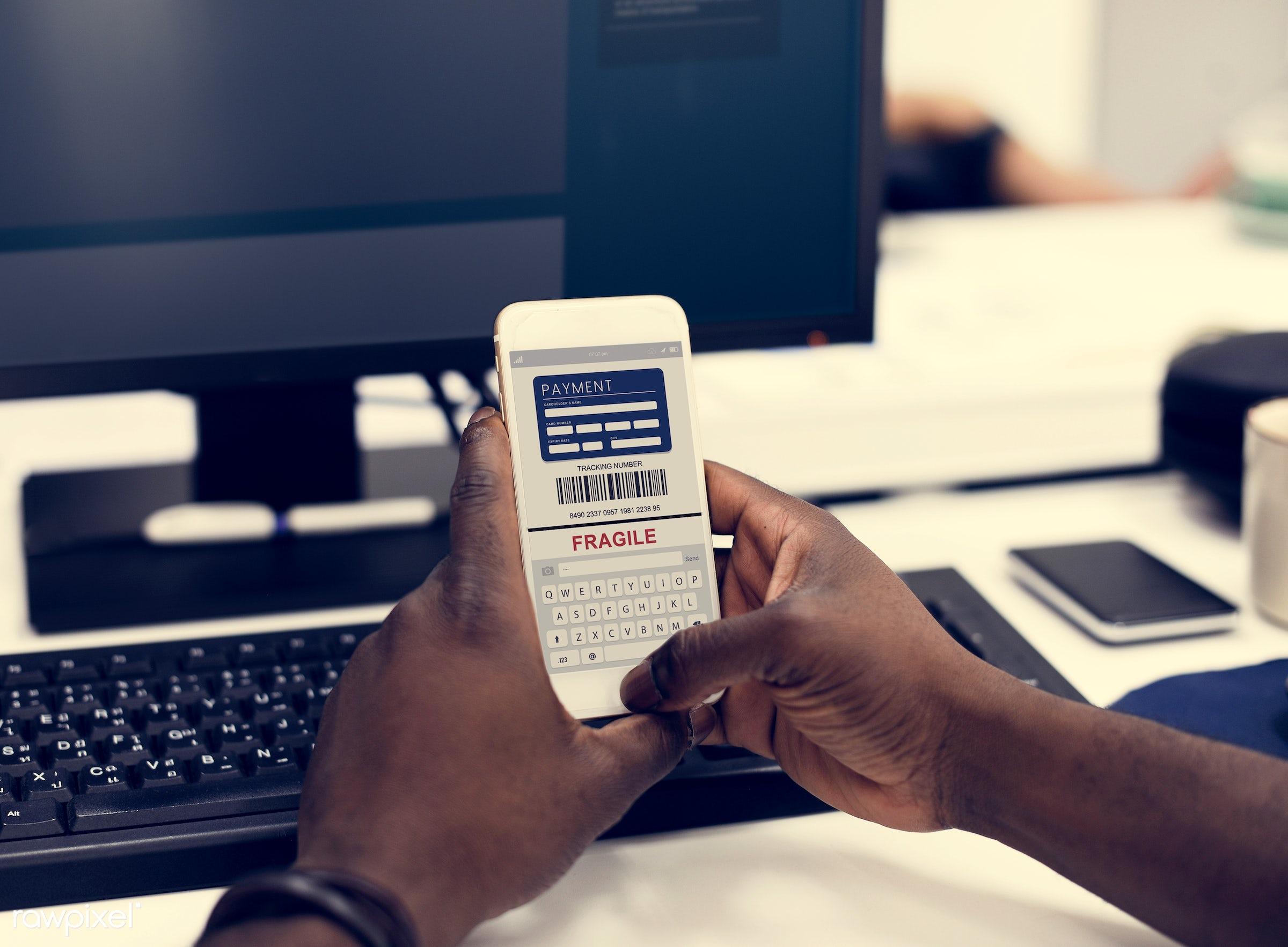 african american, african descent, alone, black, break, cellphone, device, digital, digital device, e-commerce, ecommerce,...