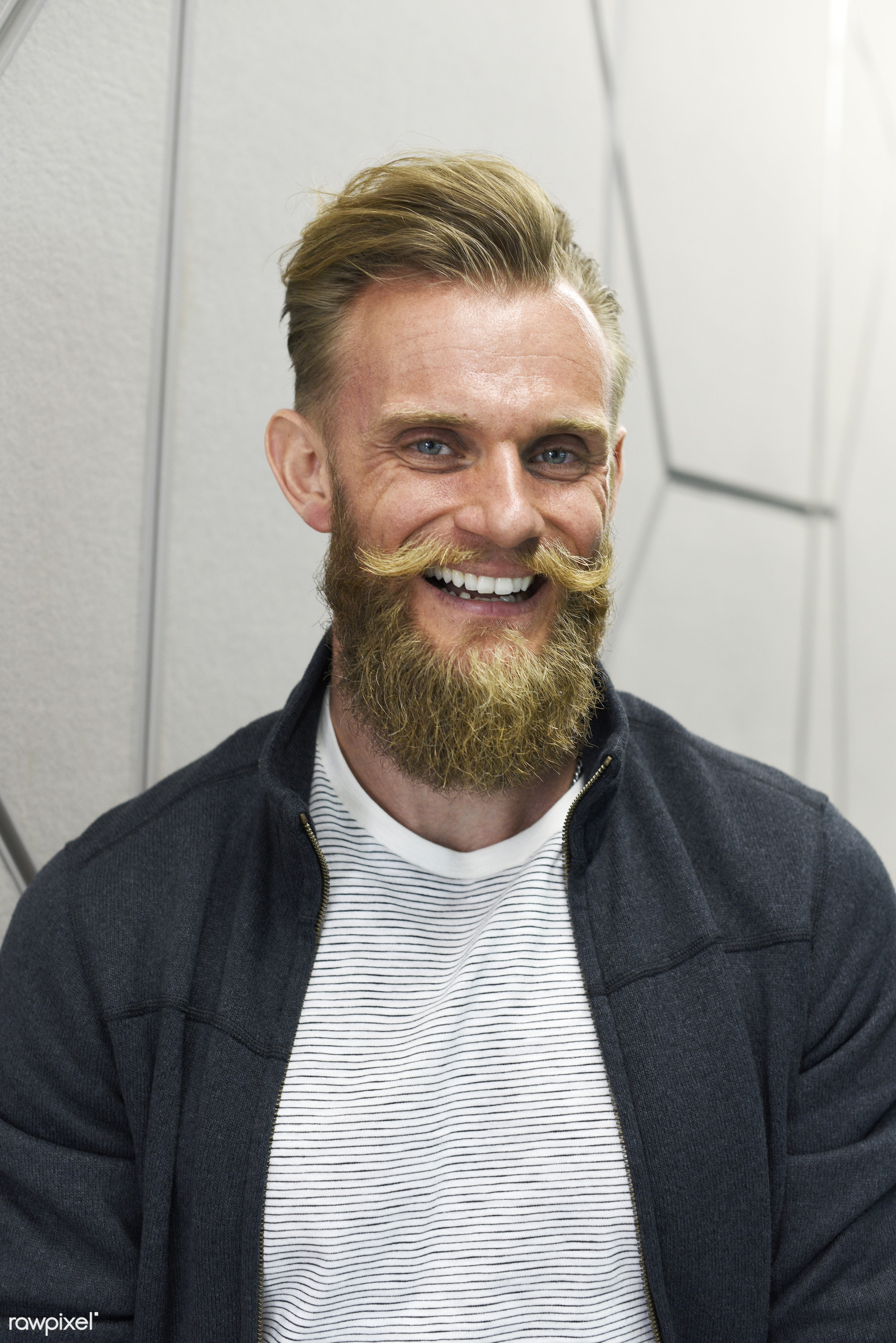 alone, beard, casual, caucasian, cheerful, confident, emotion, enjoyment, expression, face, feeling, gesture, guy, male, man...