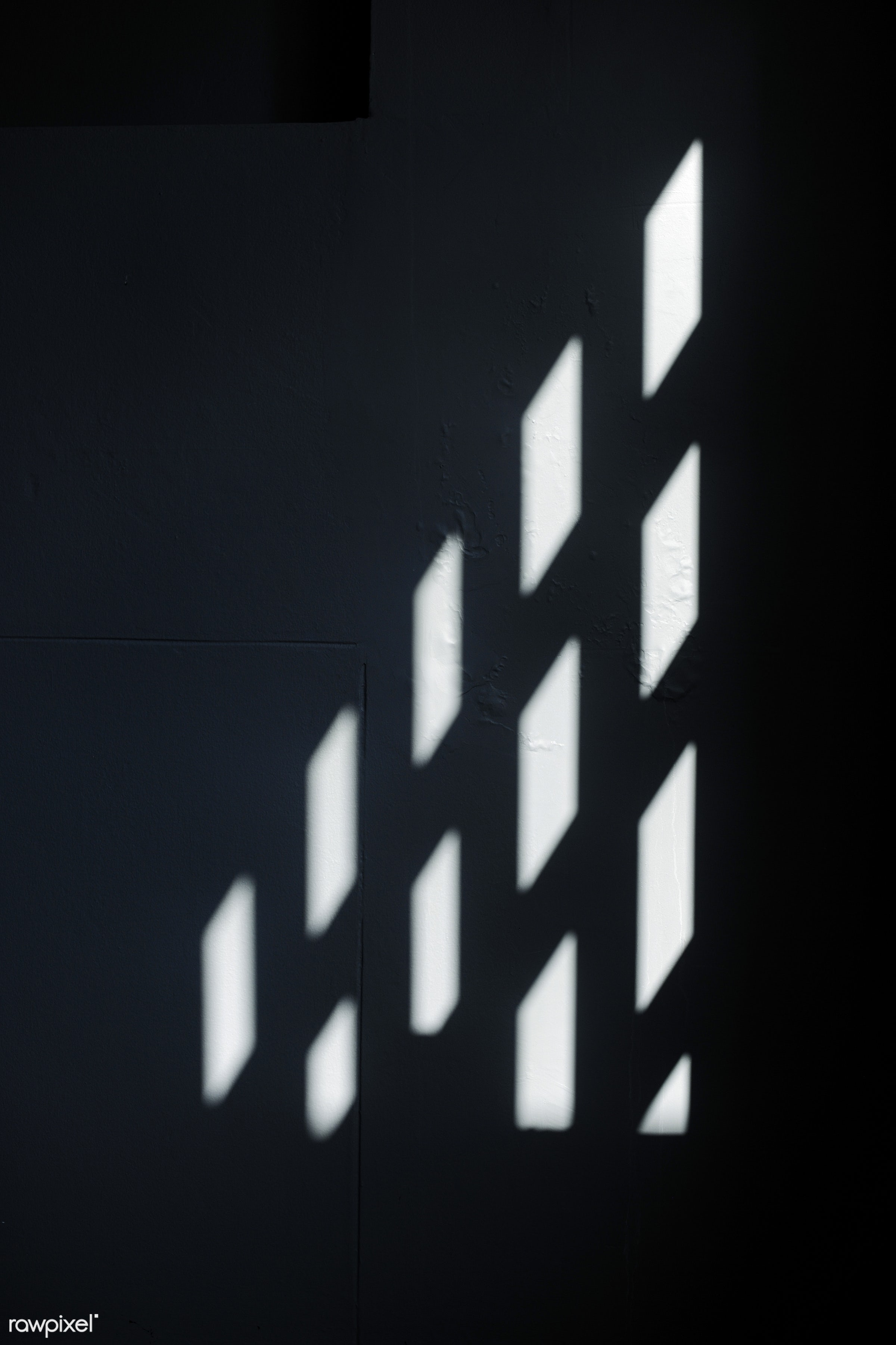 abstract, black, boxes, dark, indoors, nobody, pattern, room, shadow, squares, sunlight, surface, wall, window