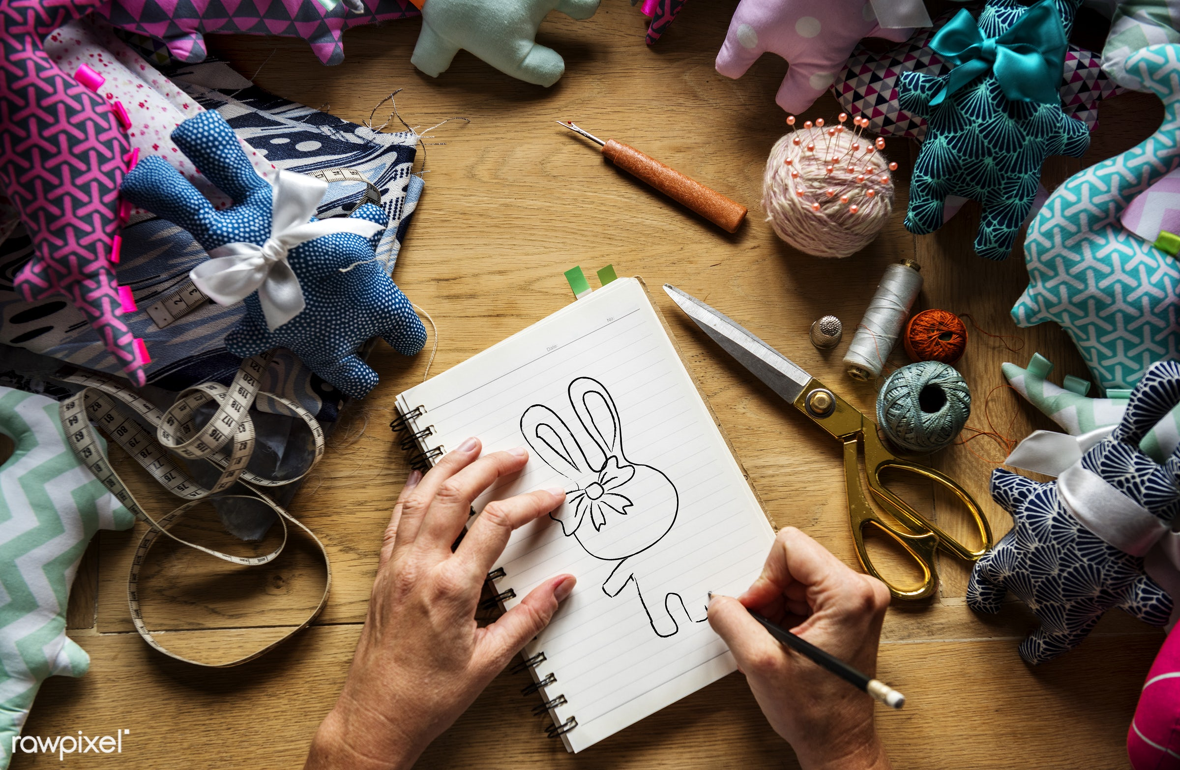 workspace, handicraft, workplace, stitching, equipment, drawing, tools, cloth, hands, woman, thread, lifestyle, making,...
