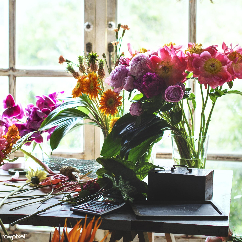 plant, shop, person, flora, decoration, refreshment, leisure, table, flower shop, florist, recreational, window, fresh,...