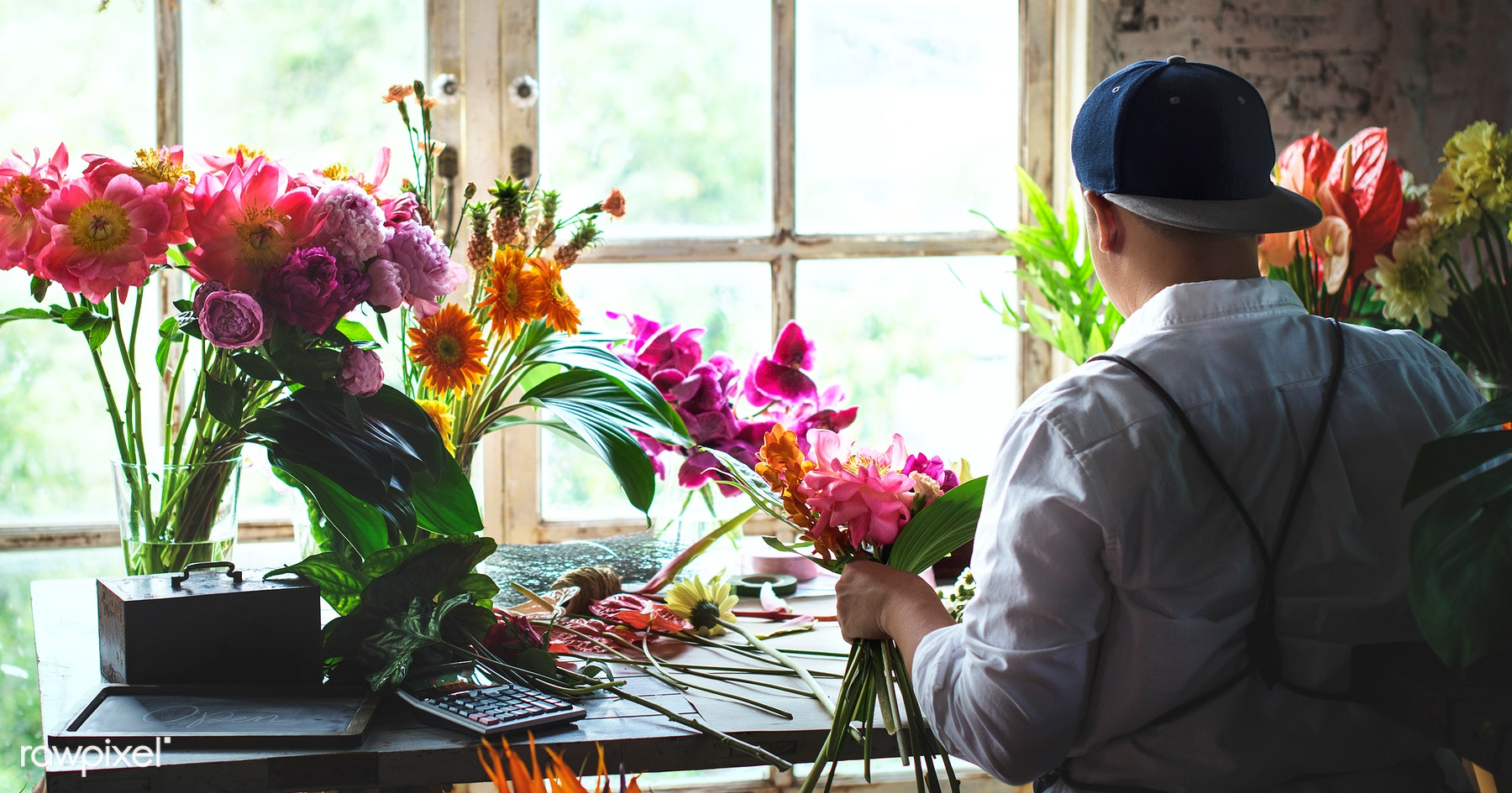 Plant Bouquet Person Royalty Free Stock Photo 104351