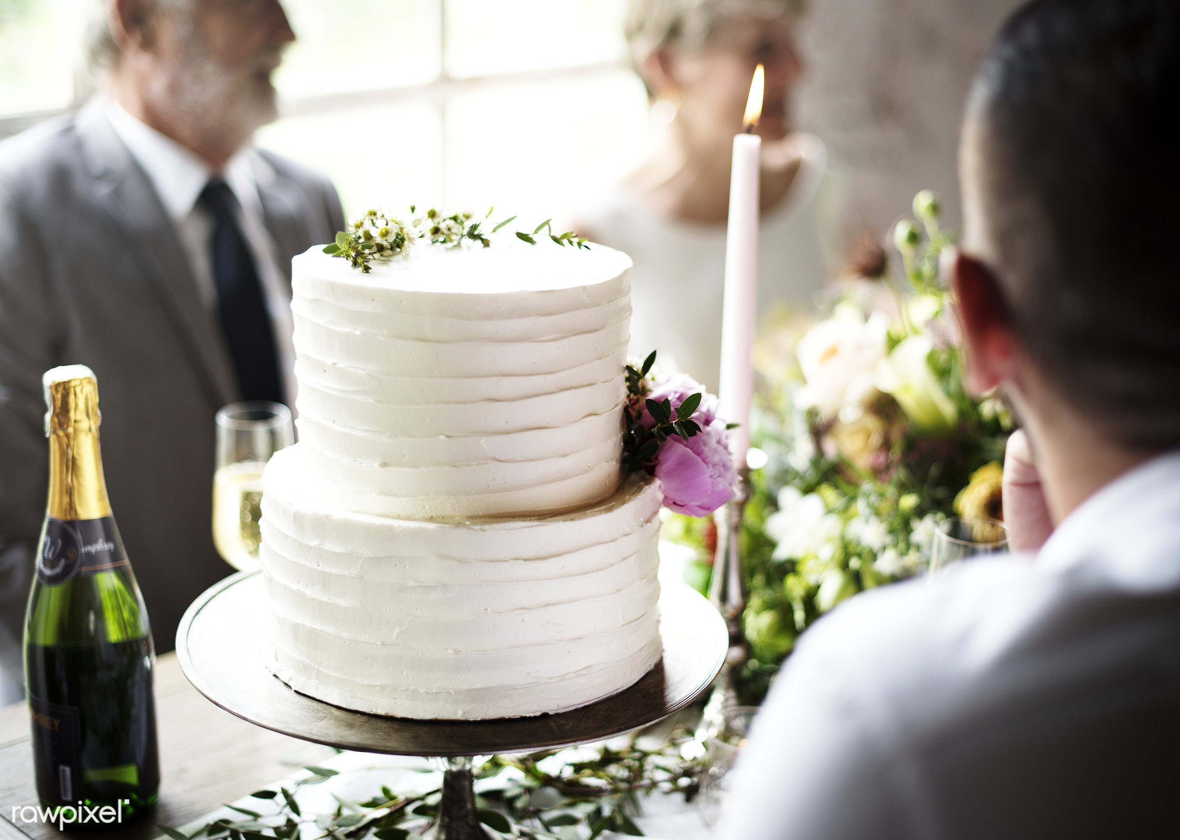 guests, occasion, people, together, gather, event, friendship, banquet, flowers, closeup, cake, diversity, champagne,...