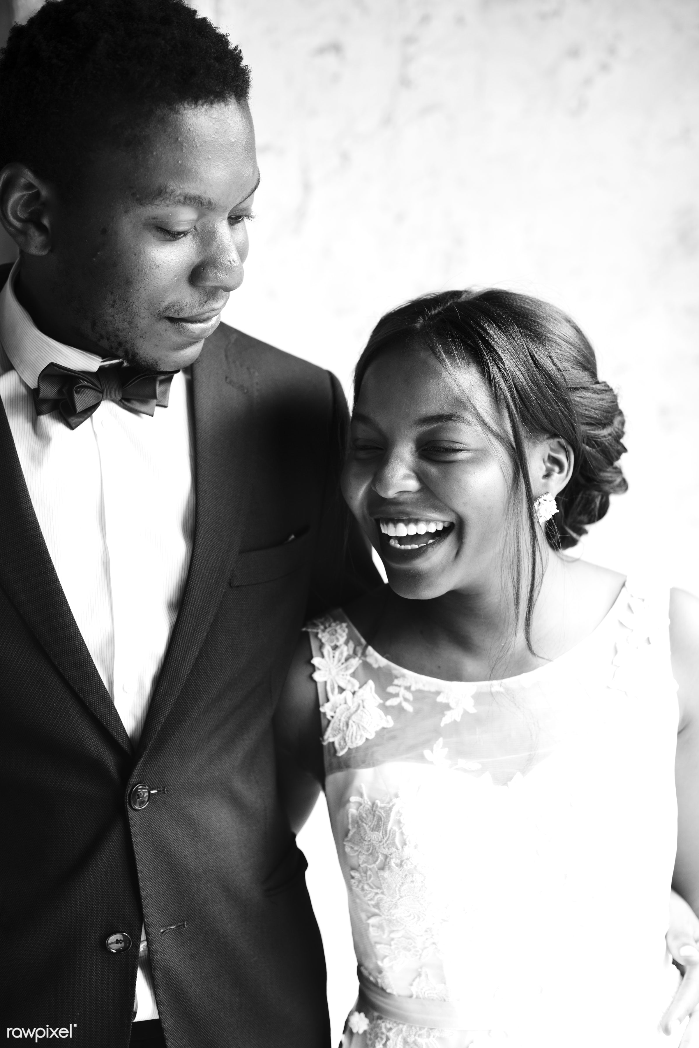Bride and groom wedding day - bride, candid, celebration, cheerful, couple, enjoying, even, fun, gown, groom, happiness,...