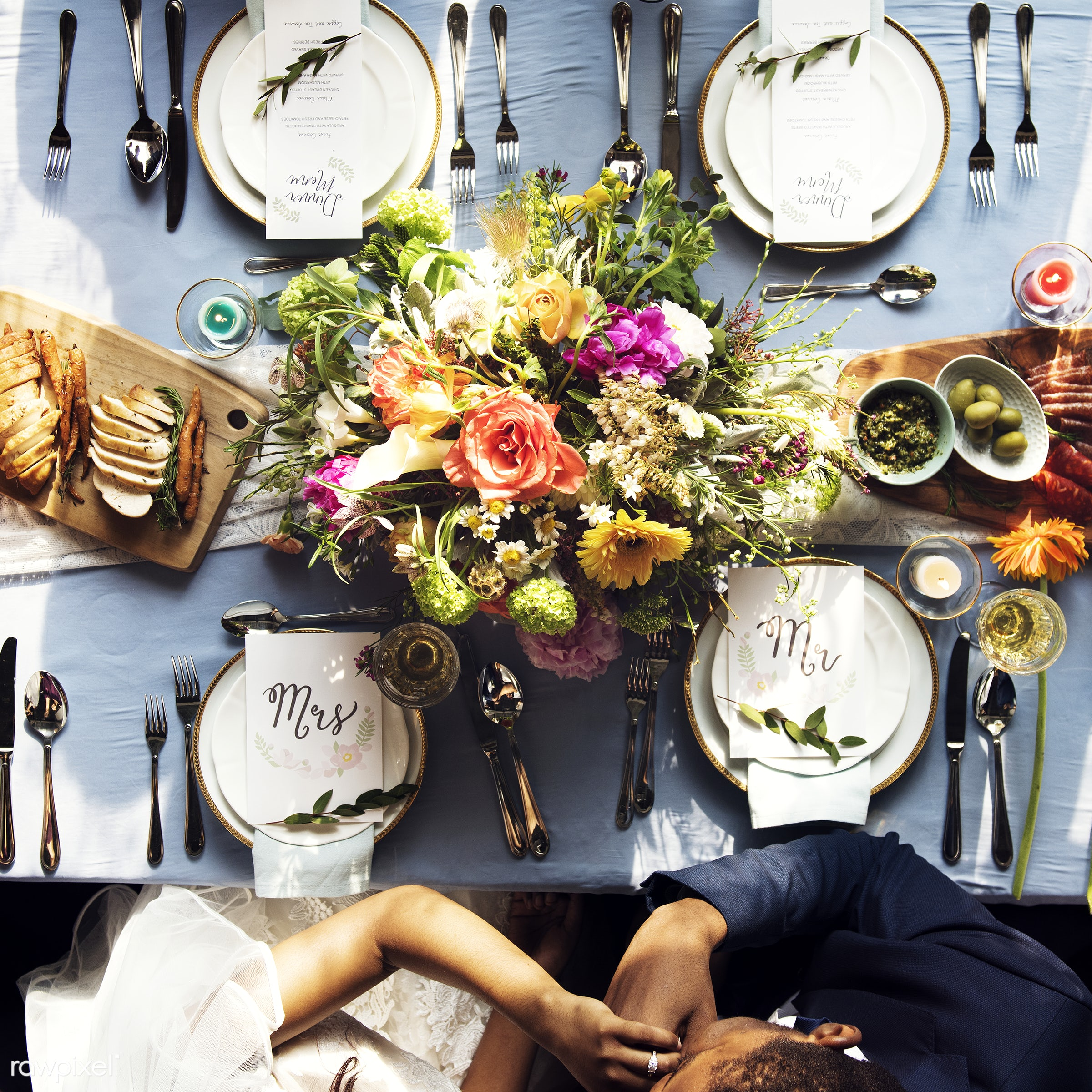 flatlay, top view, holding, guests, occasion, congratulations, people, together, married, friends, congrats, hands,...
