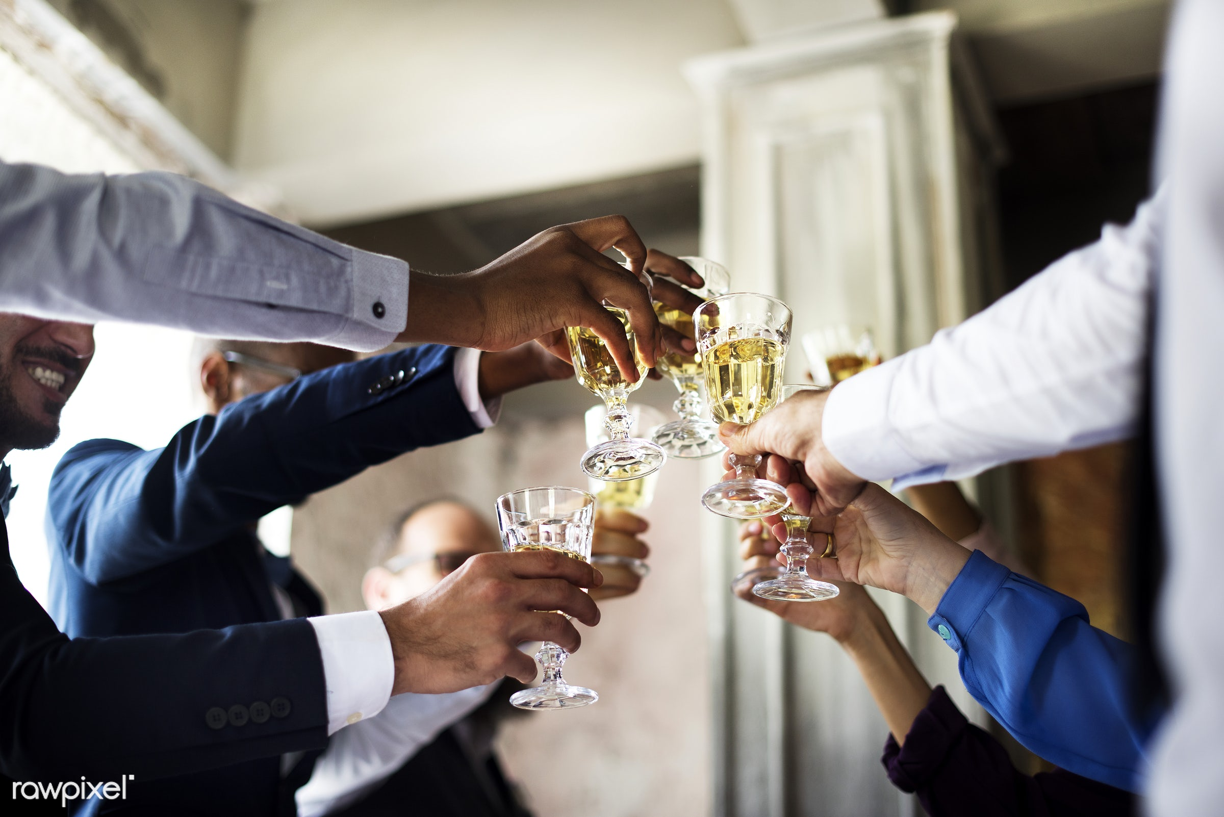 glasses, holding, occasion, congratulations, people, together, love, friends, married, congrats, hands, gather, drink, glass...
