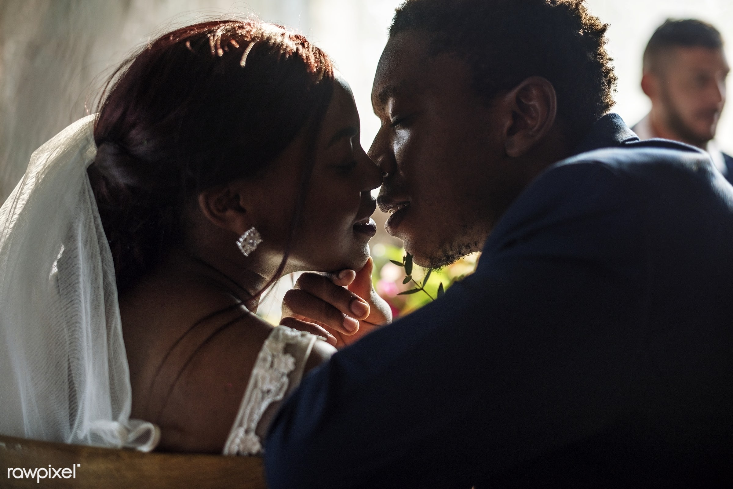occasion, husband, people, love, married, spouse, bride, cheerful, black, kissing, african descent, newlywed, togetherness,...