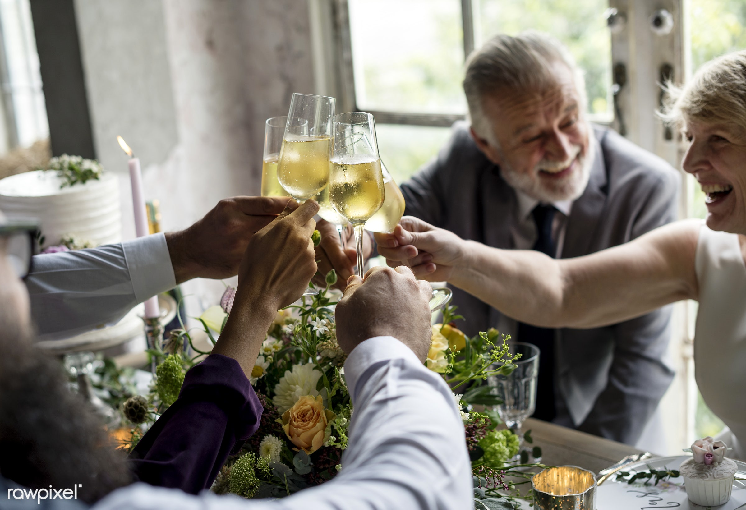 glasses, holding, occasion, congratulations, people, together, love, married, friends, congrats, hands, gather, drink,...