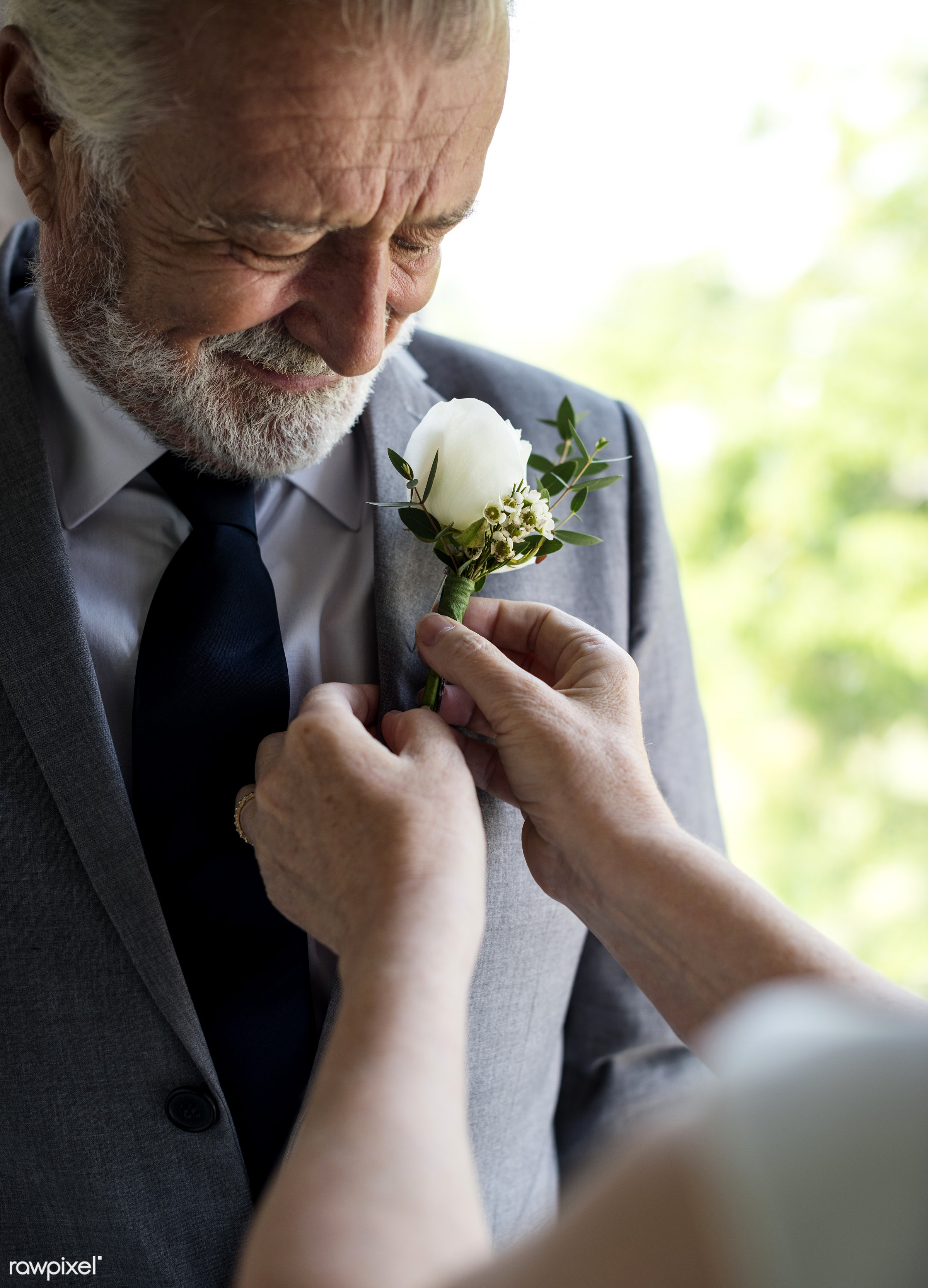 bouquet, occasion, people, caucasian, love, white rose, hands, event, gathering, couple, celebrate, cheerful, smiling,...