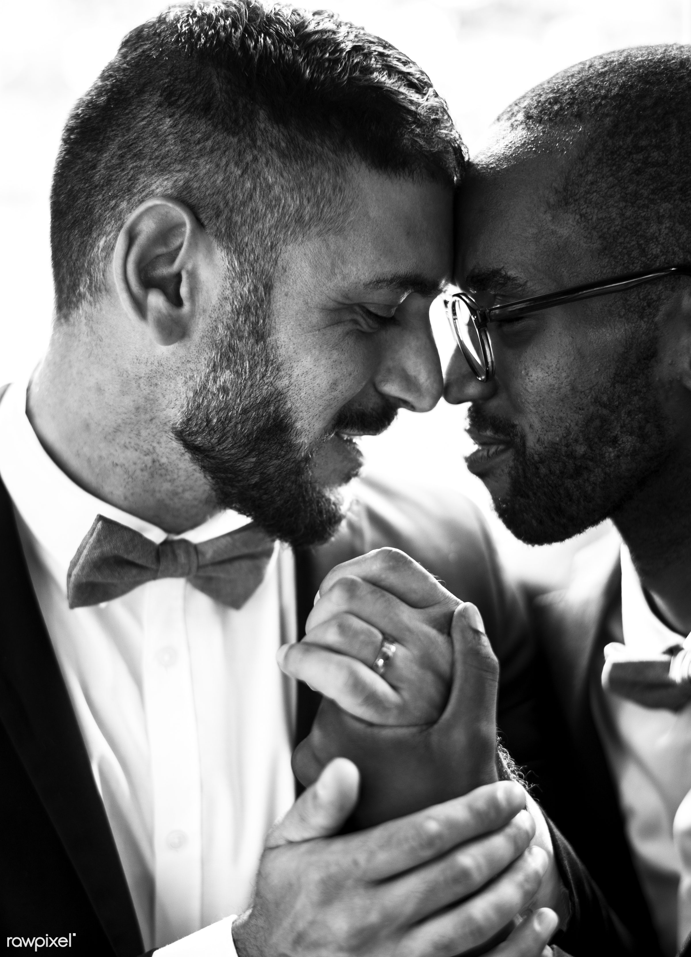 occasion, together, caucasian, love, banquet, men, ring, african descent, gay couple, ceremony, lgbt, two, wedding,...
