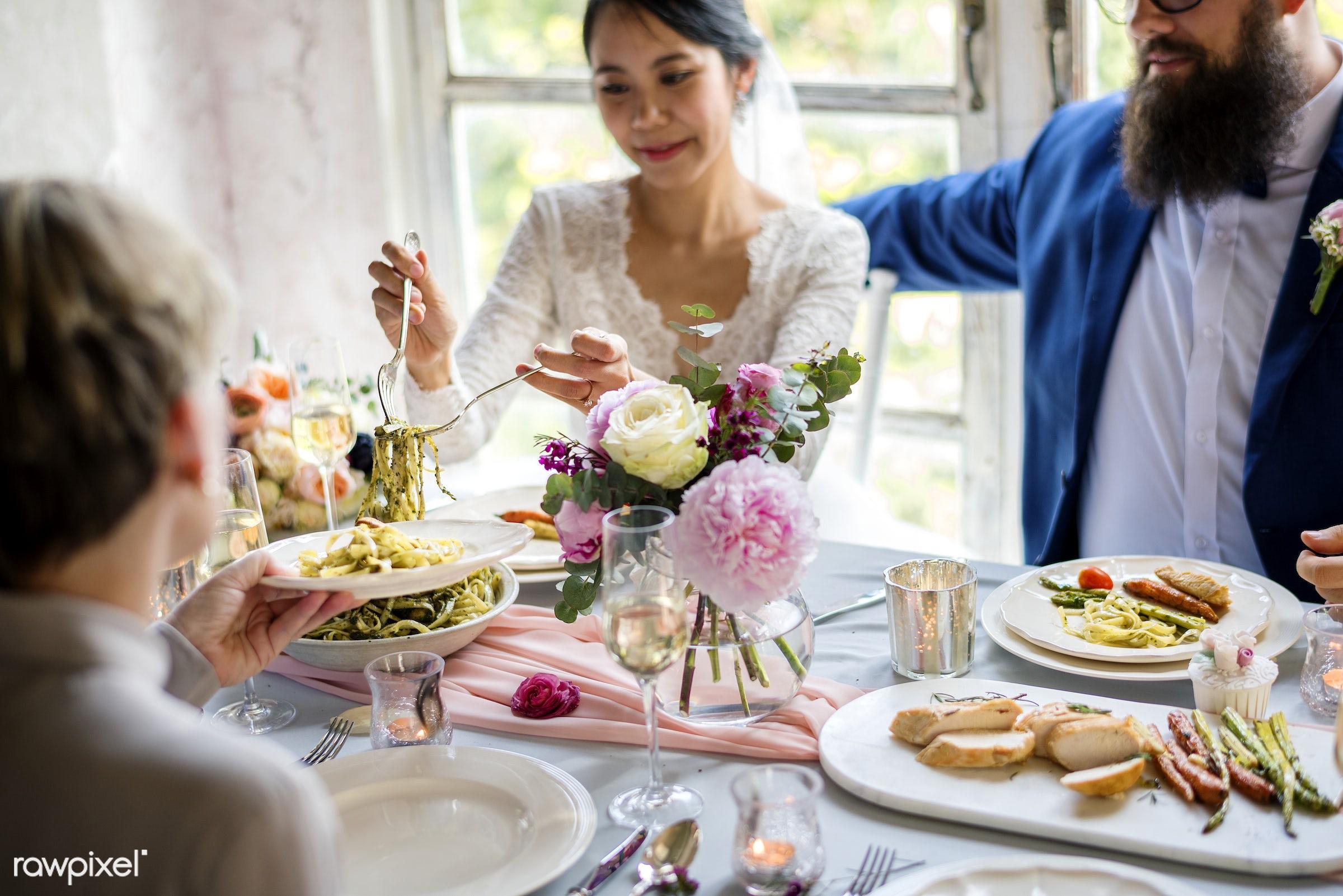 Bridge and groom wedding day - wedding, union, marriage, bride, groom, couple, spouse, even, celebration, love, romance,...